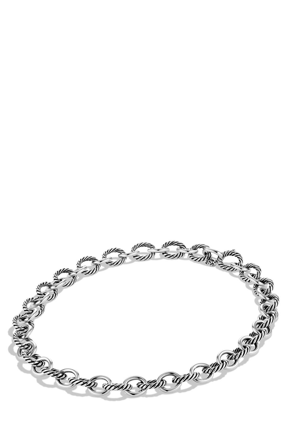'Oval' Large Link Necklace,                             Alternate thumbnail 2, color,                             SILVER