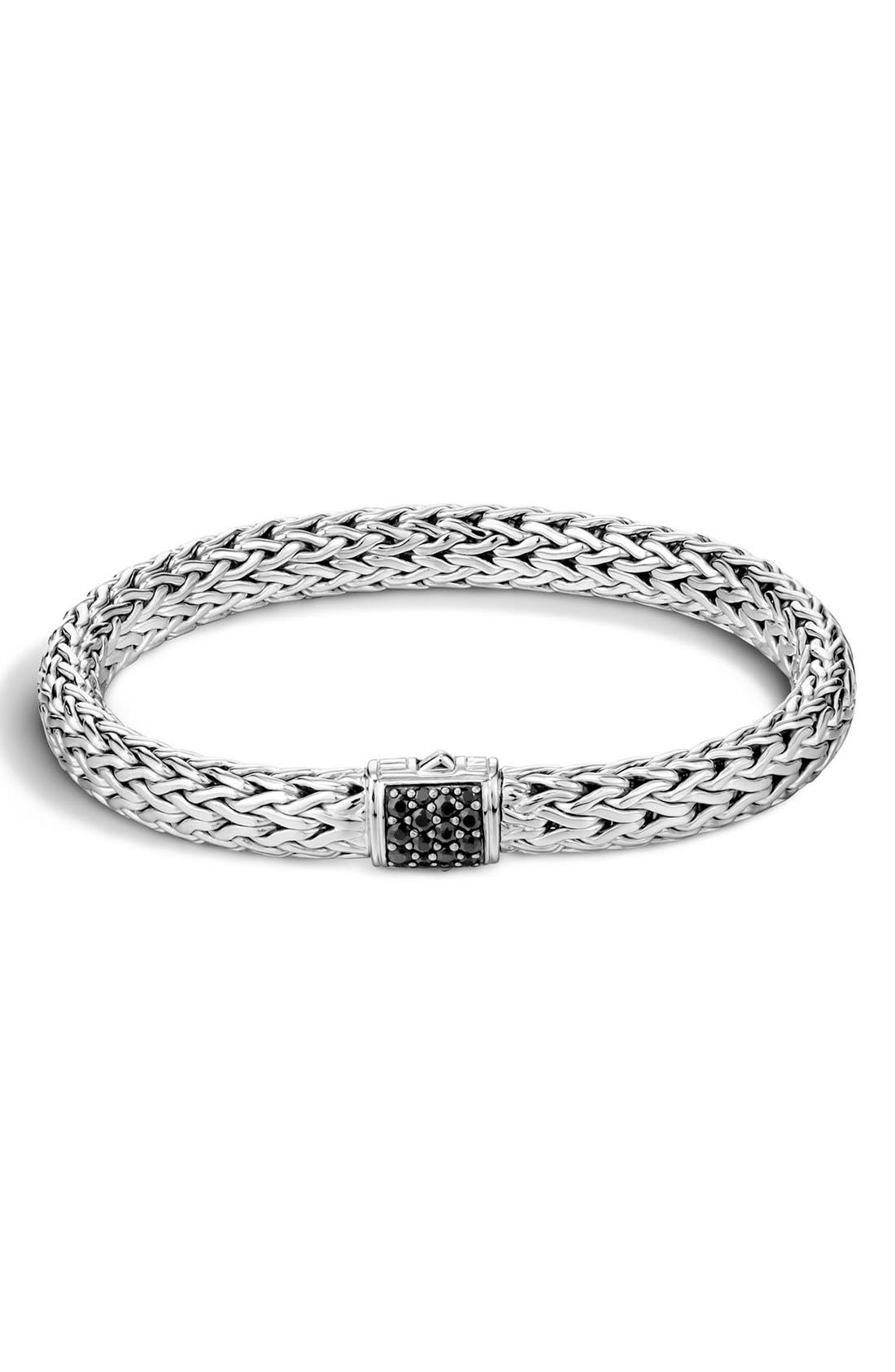 Classic Chain 7.5mm Bracelet,                         Main,                         color, BLACK SAPPHIRE