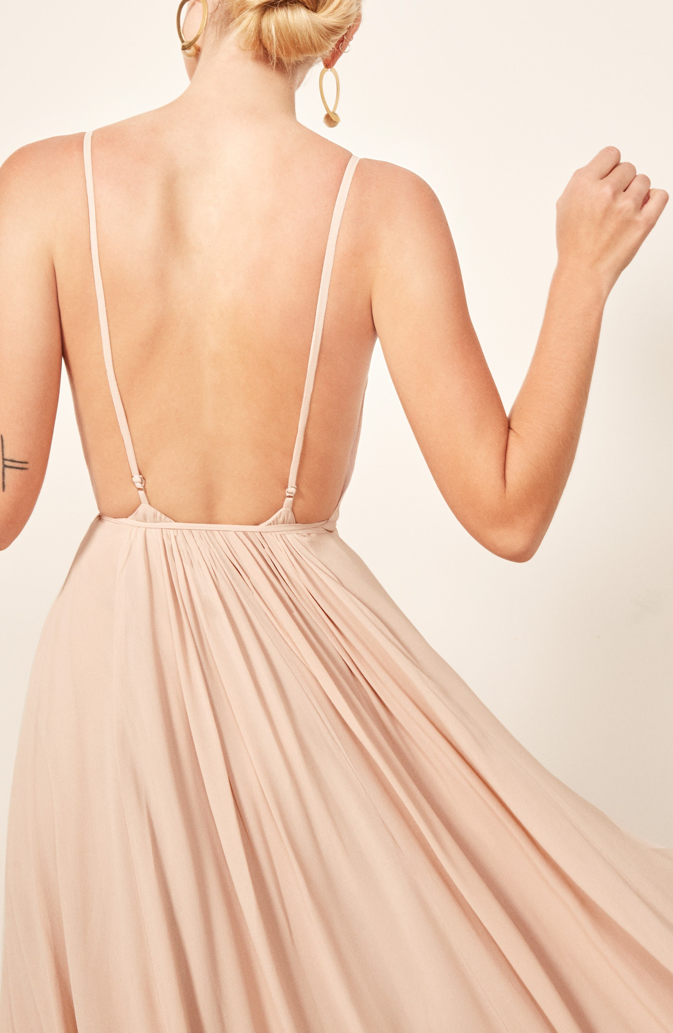 Calalilly Maxi Dress,                             Alternate thumbnail 4, color,                             CHAMPAGNE