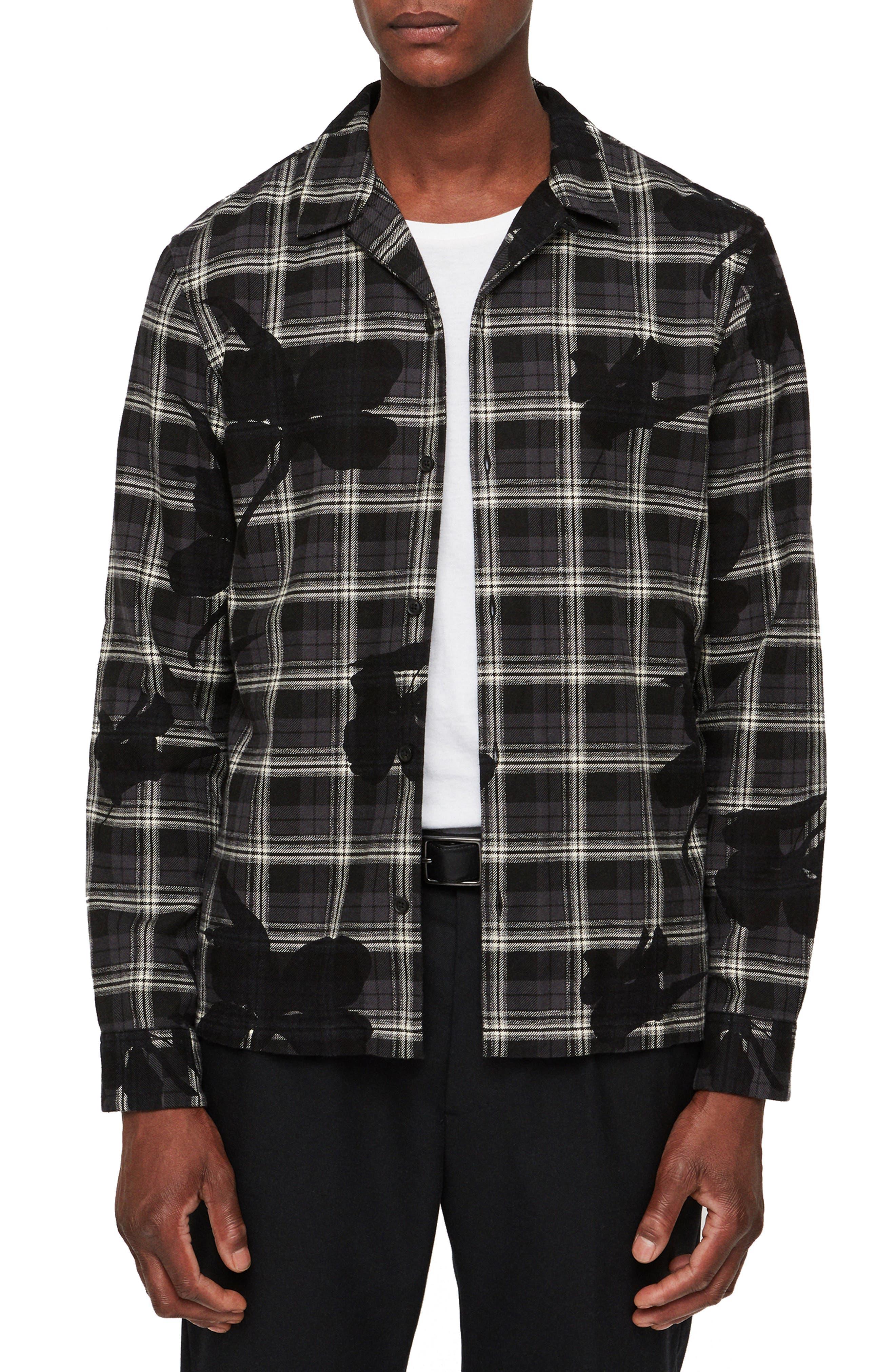 Lilyplaid Slim Fit Flannel Shirt, Main, color, 001