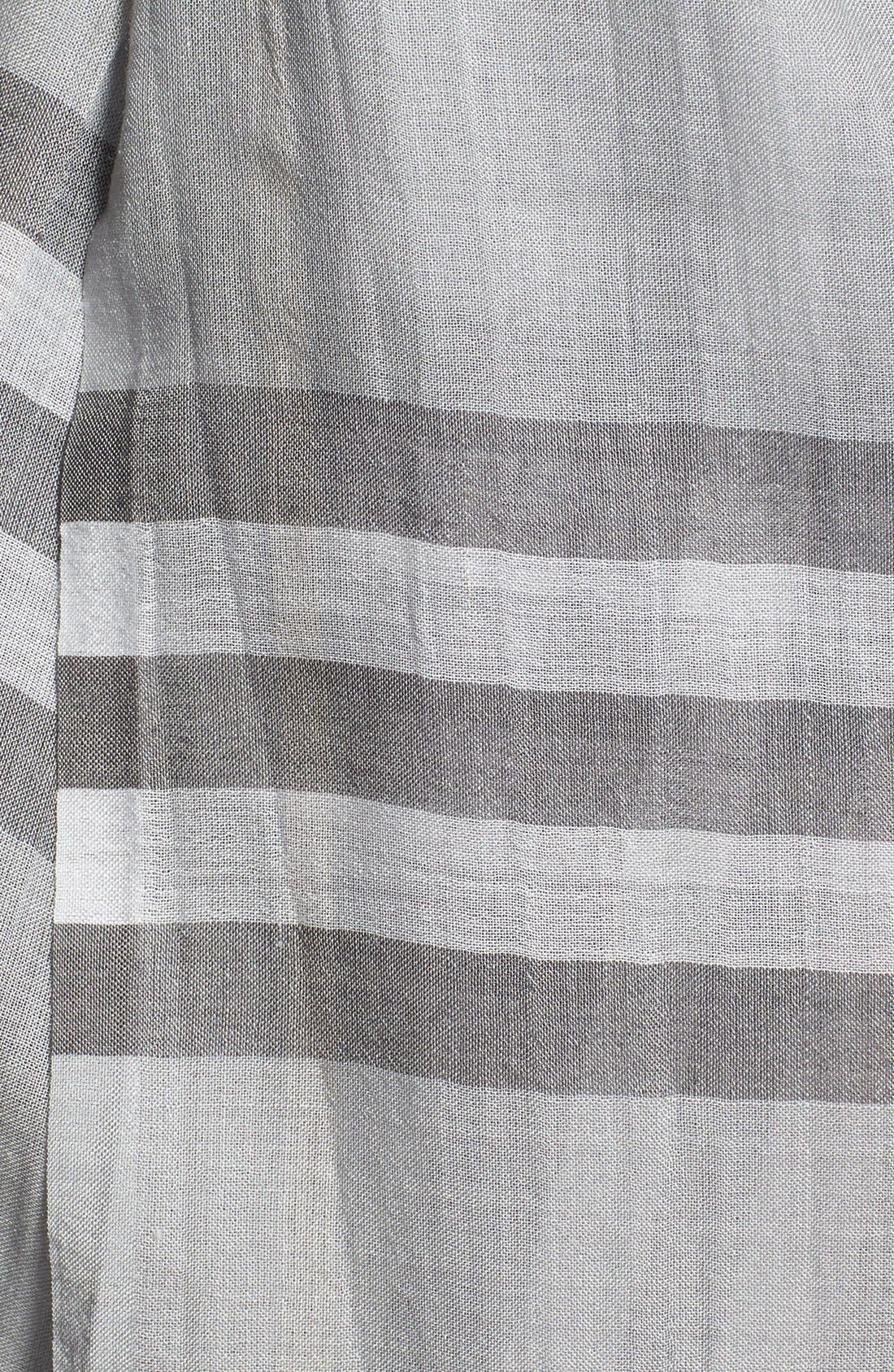 Giant Check Print Wool & Silk Scarf,                             Alternate thumbnail 77, color,