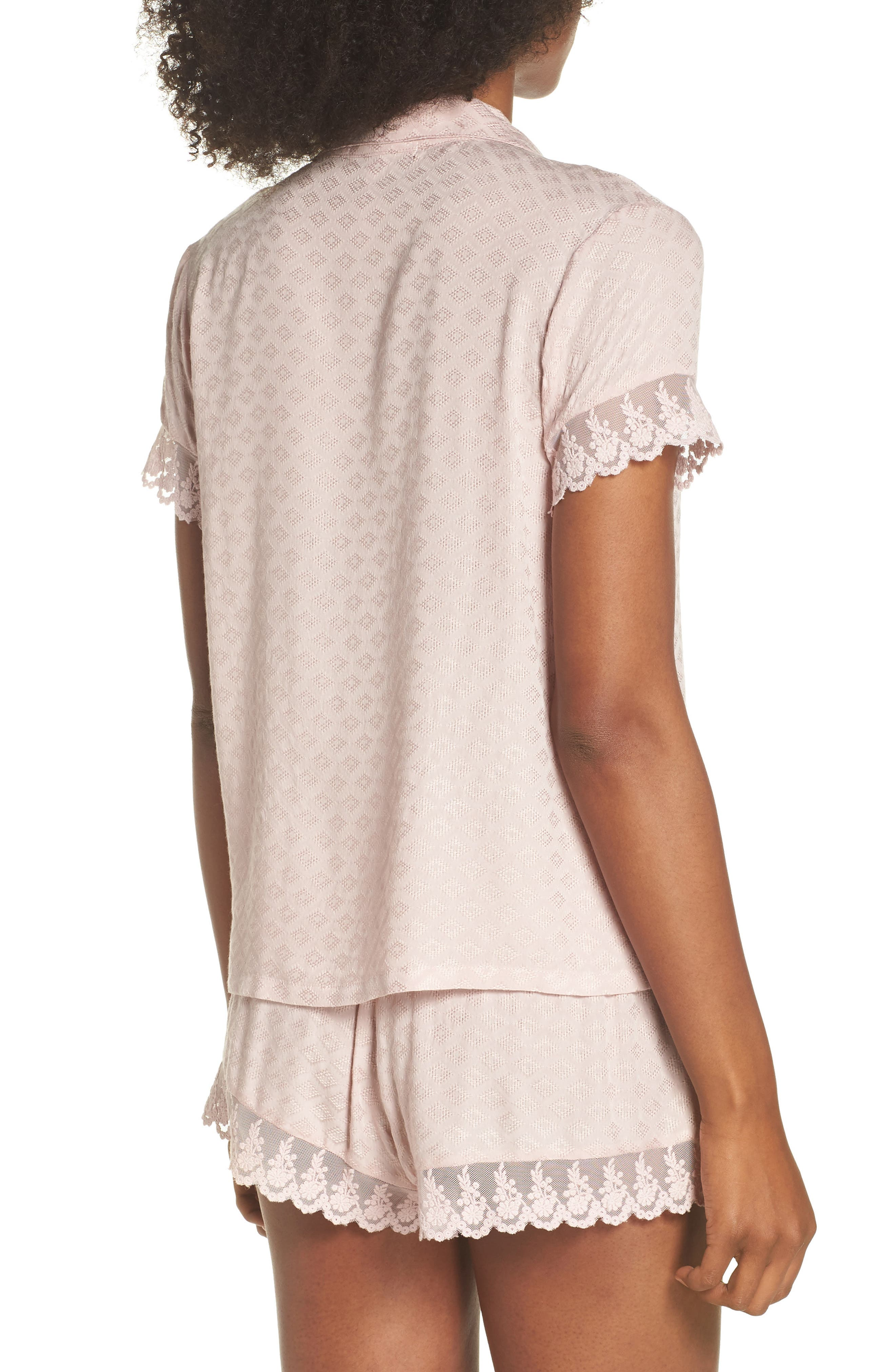 Laurel Short Pajamas,                             Alternate thumbnail 2, color,                             SEPIA ROSE
