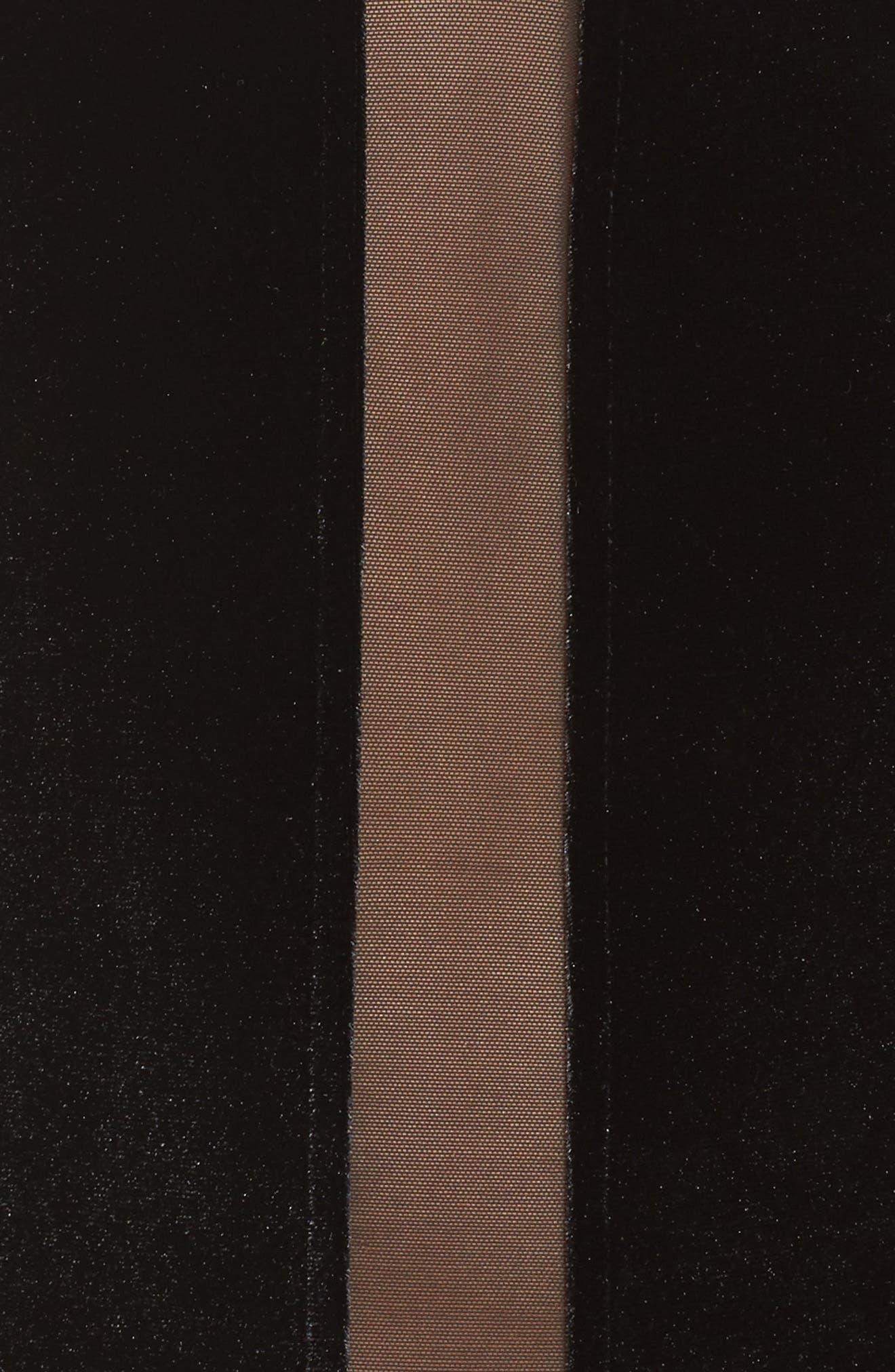 Grace Velvet & Mesh Bodysuit,                             Alternate thumbnail 5, color,                             002