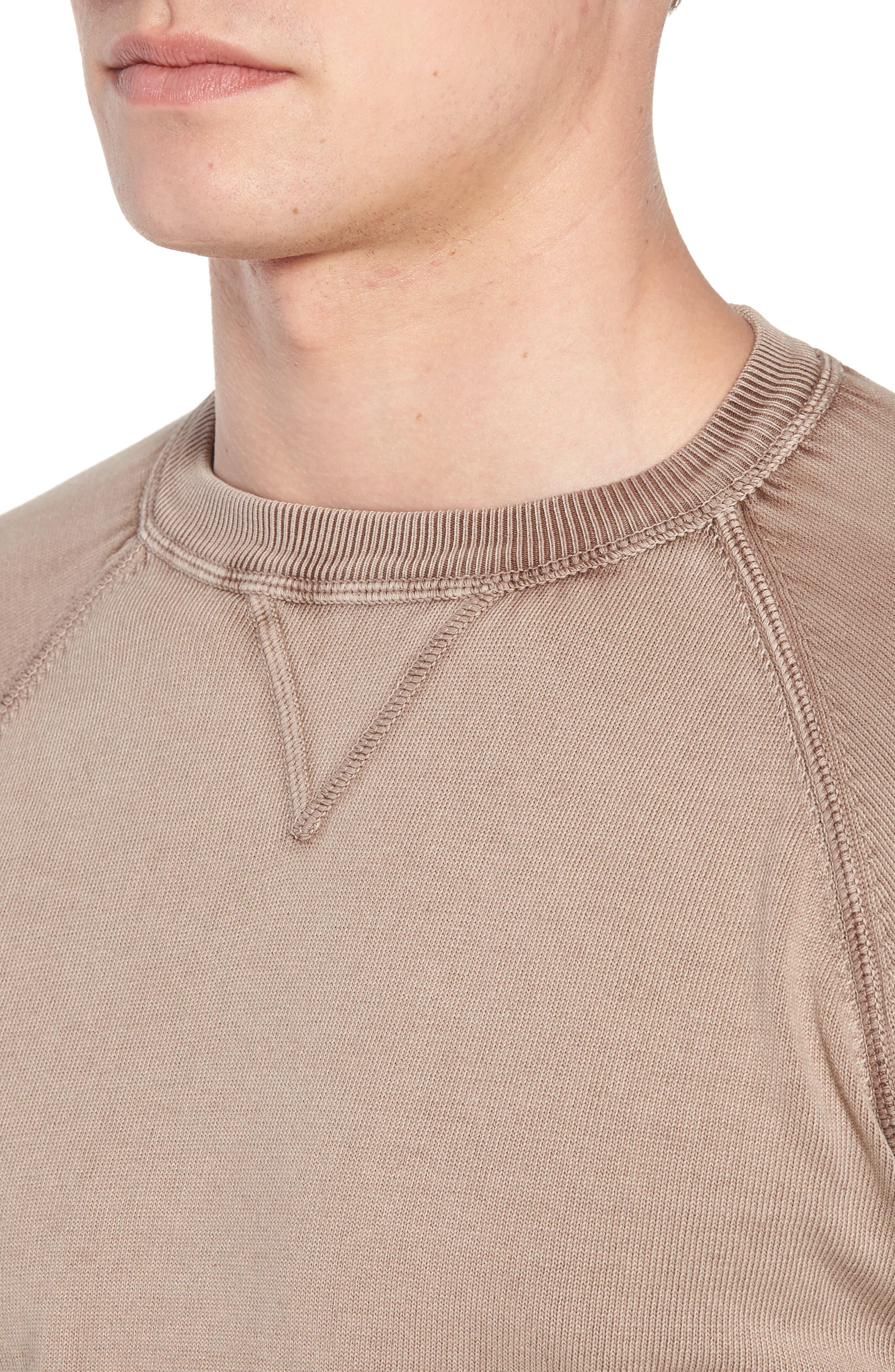 Stonewash Cotton Sweatshirt,                             Alternate thumbnail 4, color,