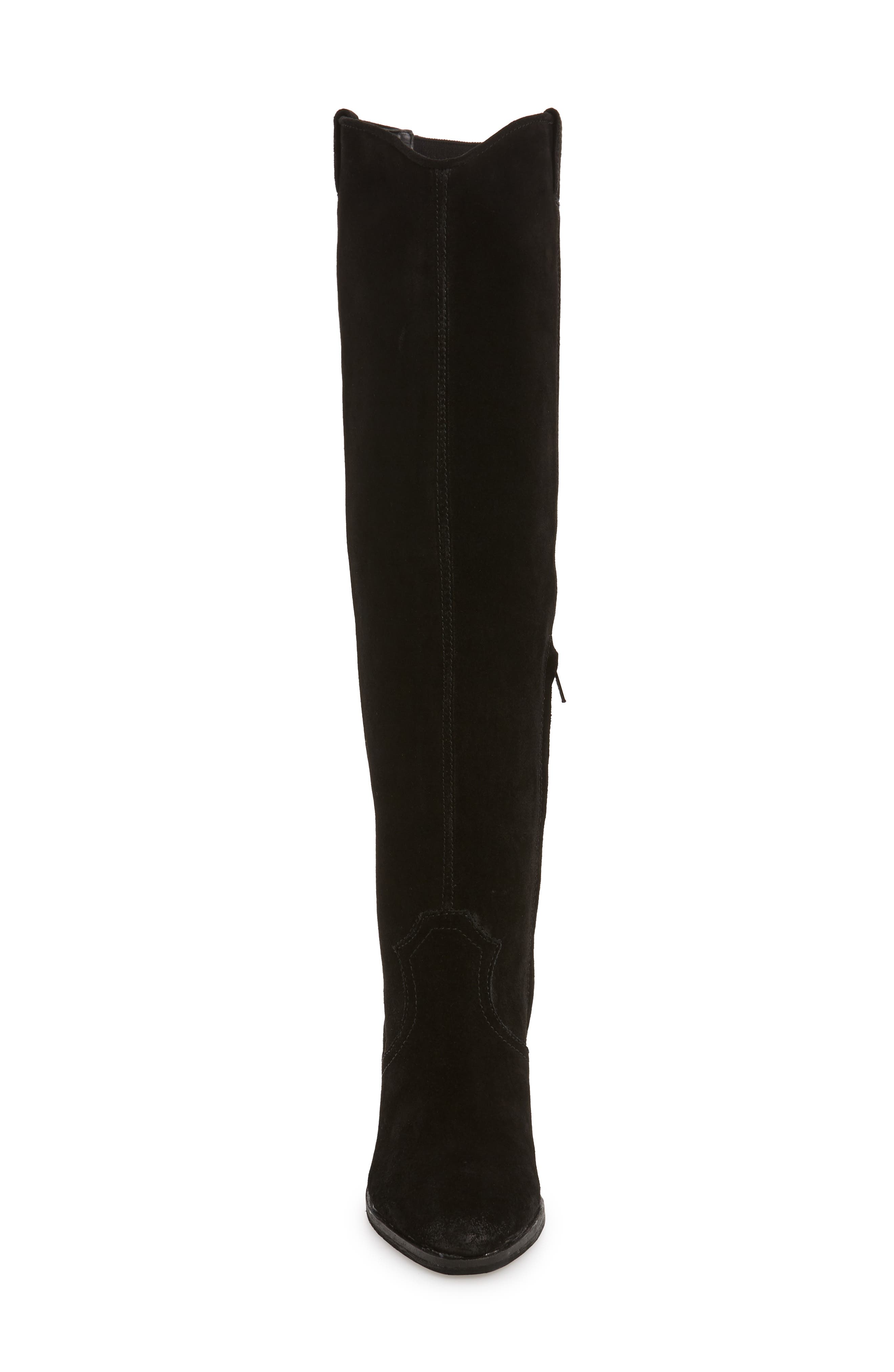 Delano Over the Knee Boot,                             Alternate thumbnail 4, color,                             BLACK LEATHER