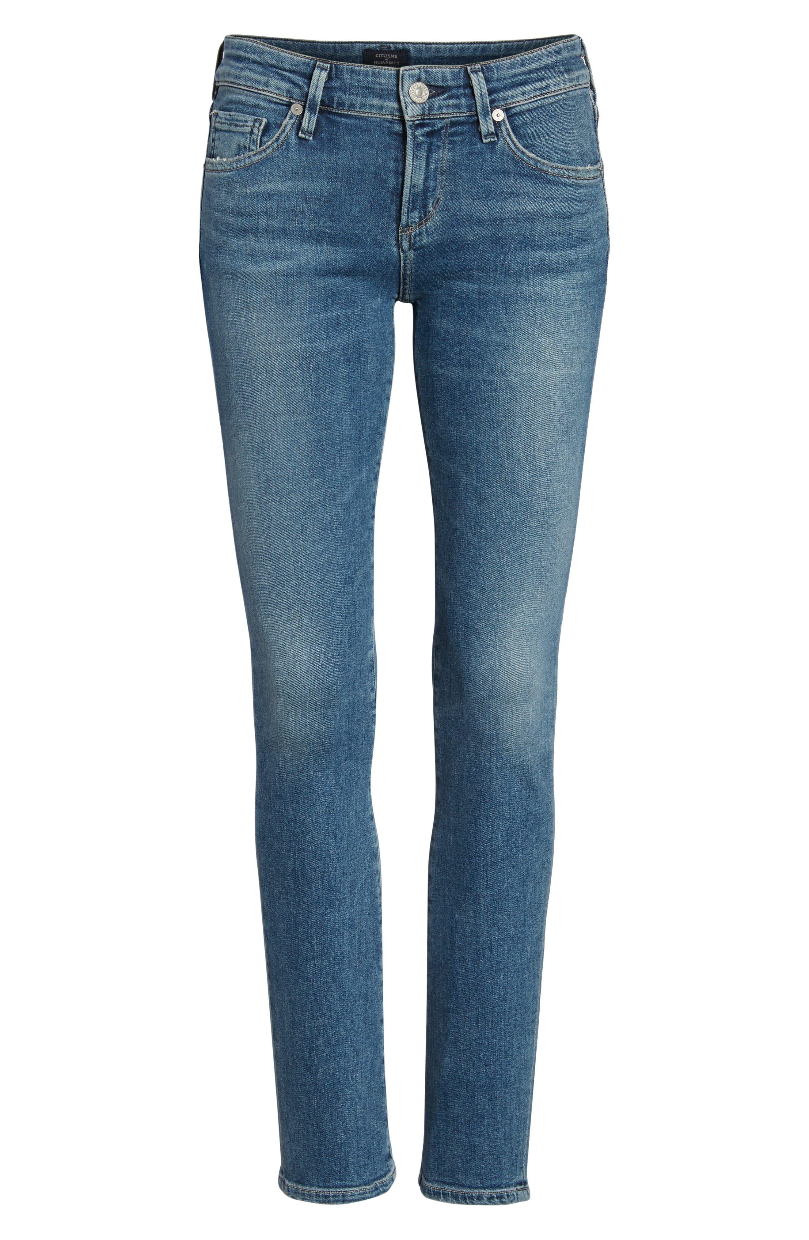Racer Skinny Jeans,                             Alternate thumbnail 7, color,                             462
