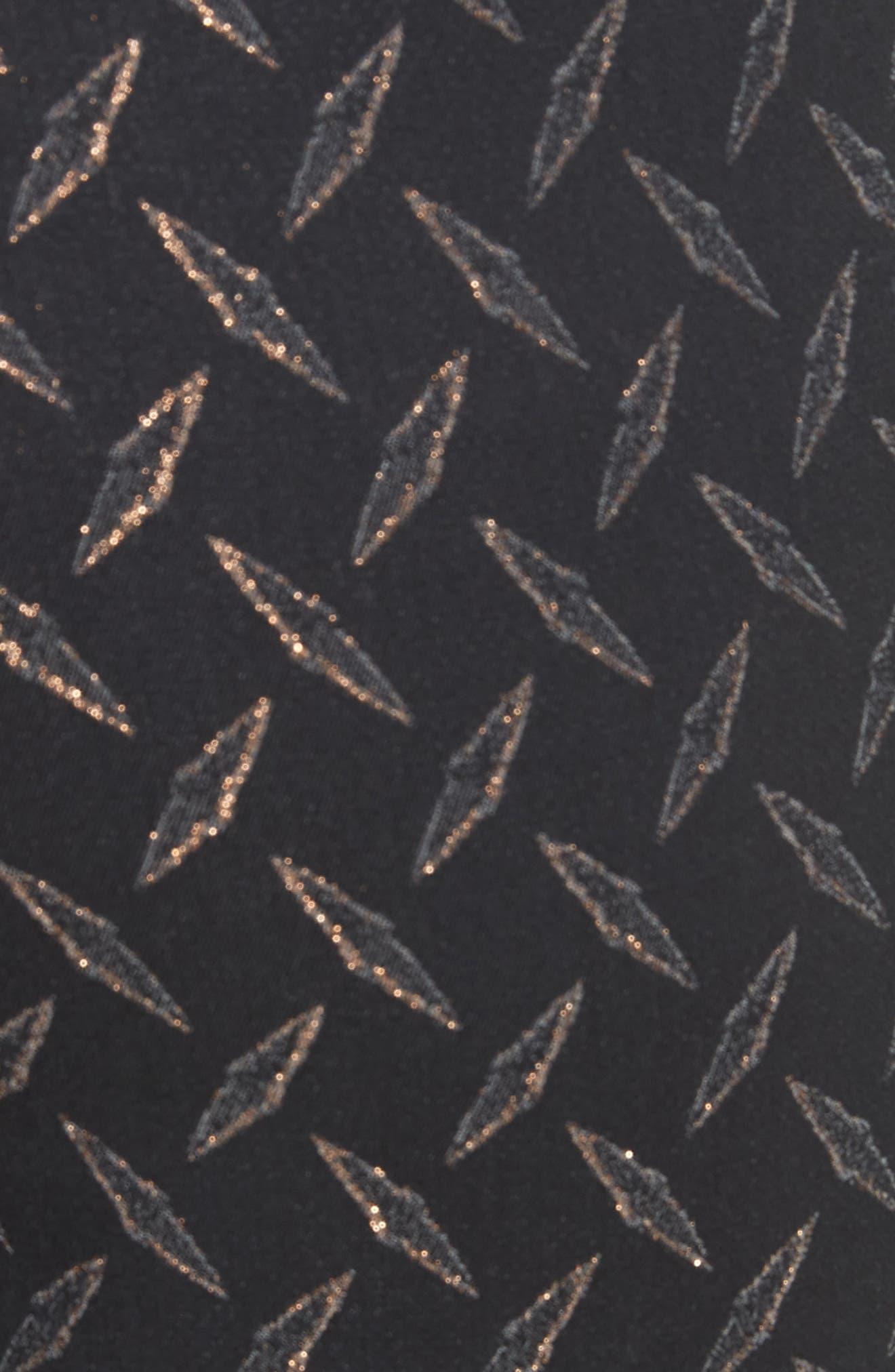Metallic Stretch Jacquard Pants,                             Alternate thumbnail 5, color,                             002