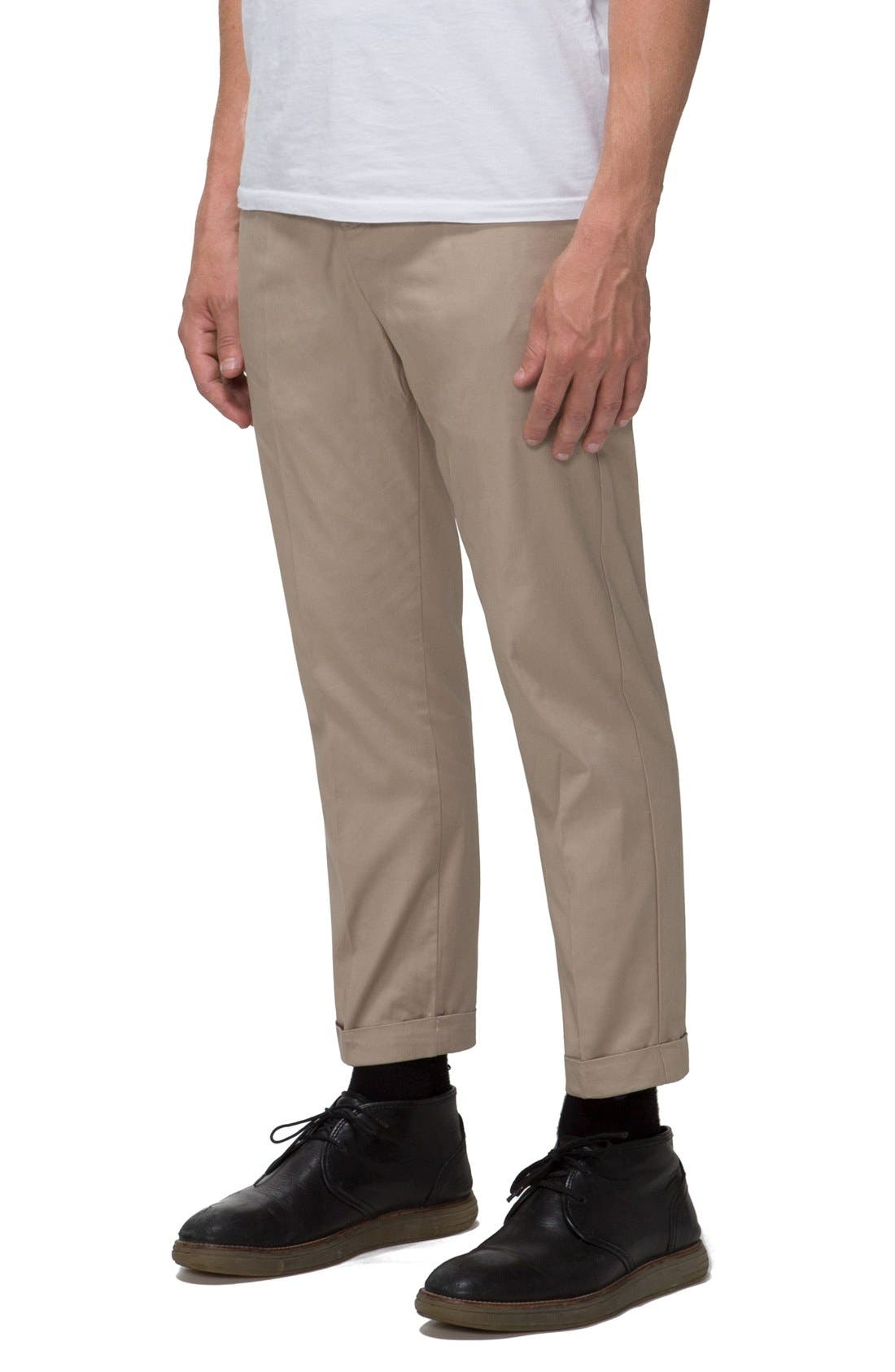 'Arroyo' Crop Stretch Chinos,                             Alternate thumbnail 8, color,