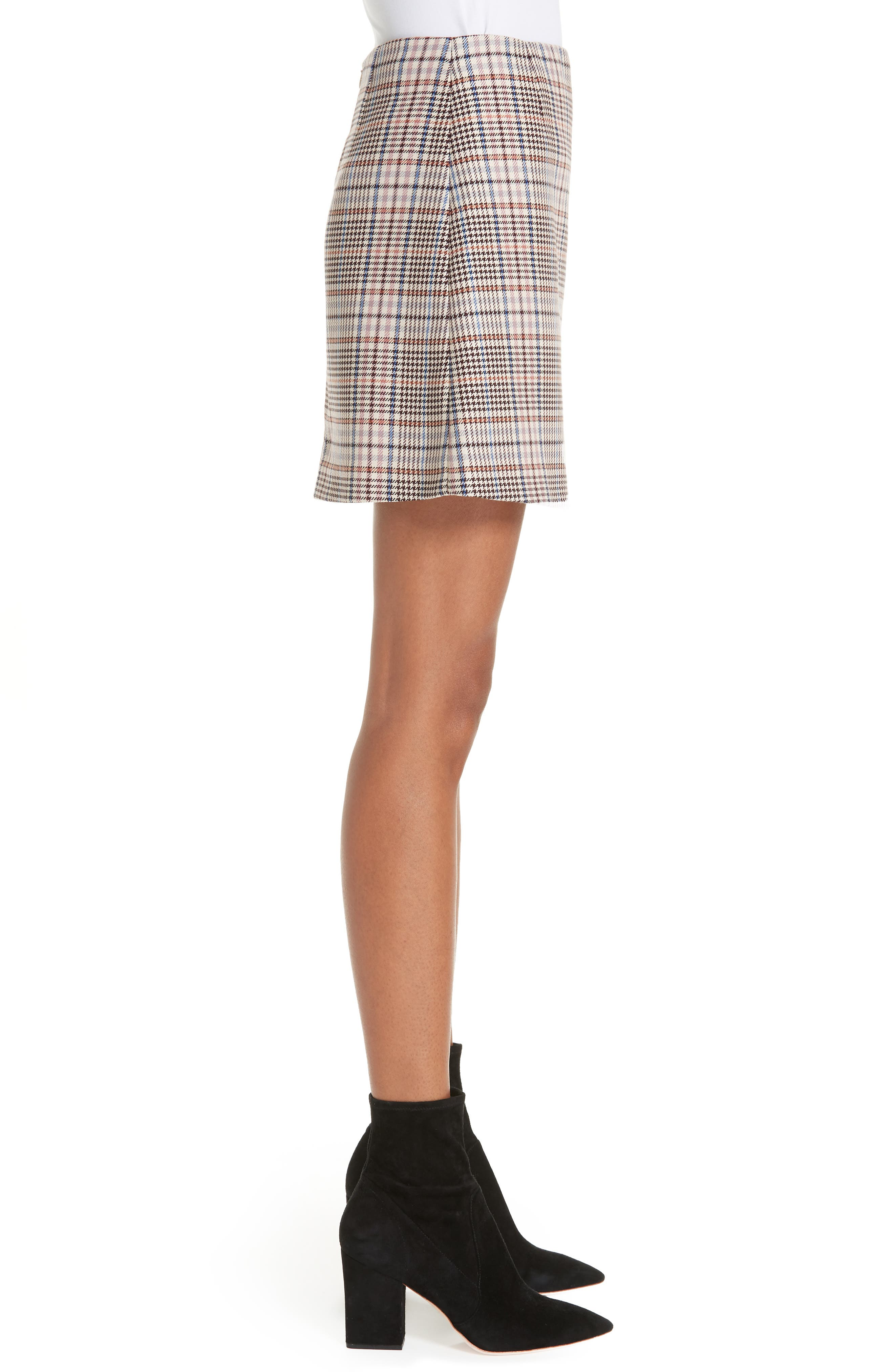 Plaid Miniskirt,                             Alternate thumbnail 3, color,                             650