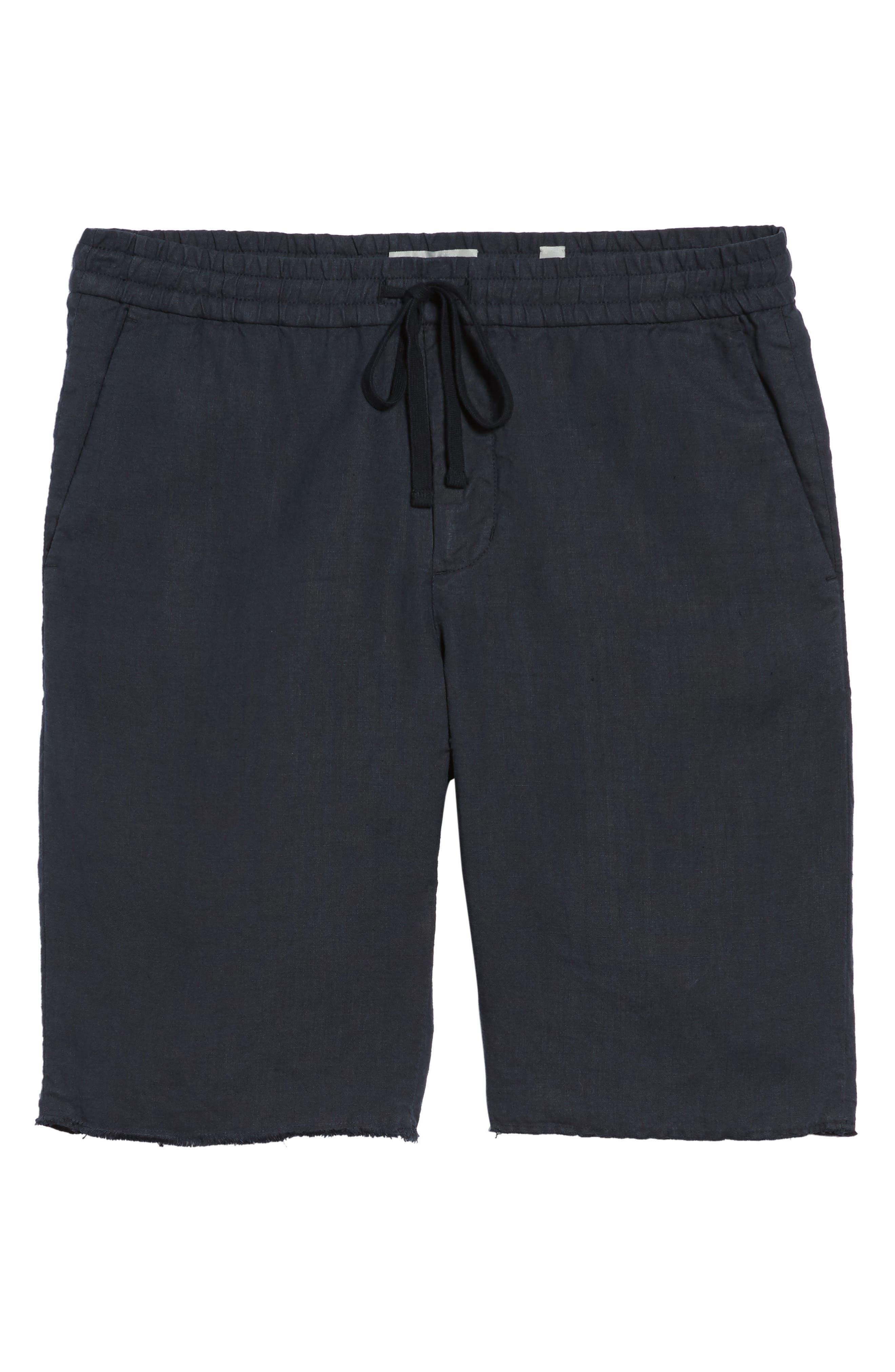 Raw Hem Slim Fit Track Shorts,                             Alternate thumbnail 6, color,                             NEW COASTAL