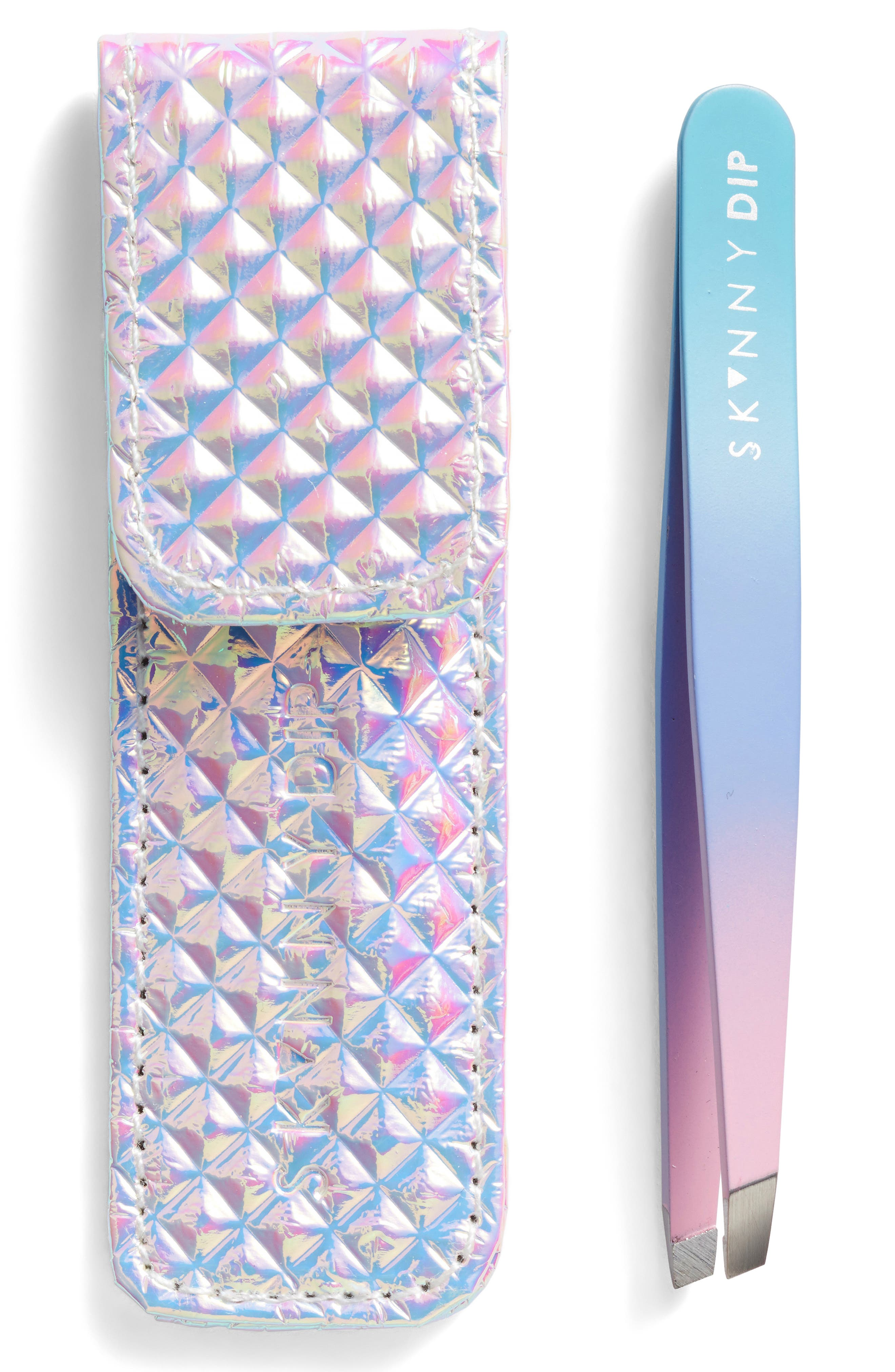 Skinny Dip Lilac with Halo Palm Tweezer,                             Main thumbnail 1, color,                             000