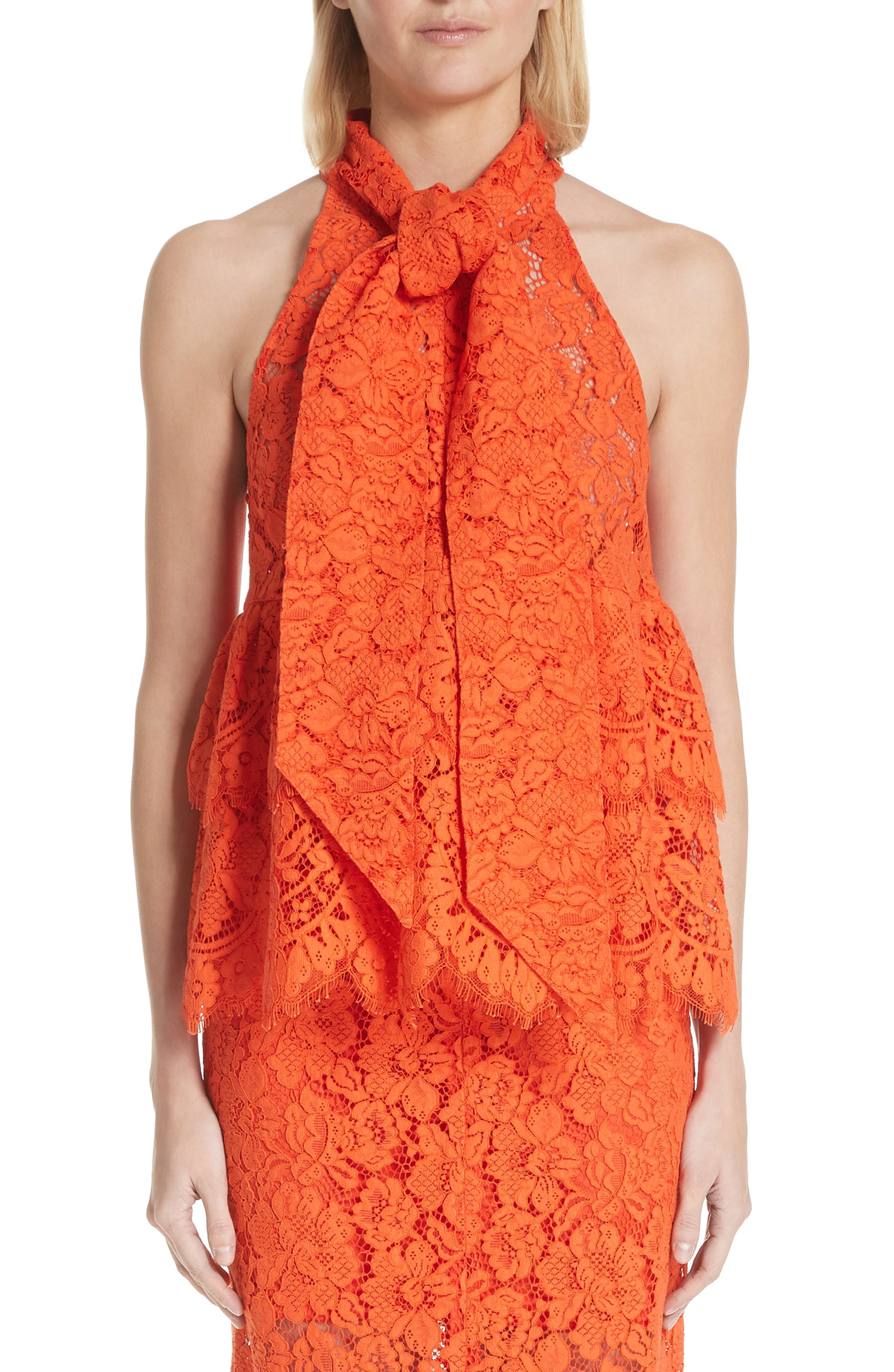 Jerome Lace Top,                             Main thumbnail 1, color,                             BIG APPLE RED