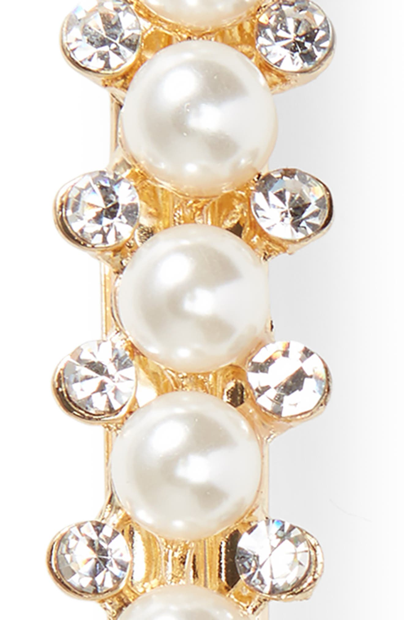 Imitation Pearl & Crystal Barrette,                             Alternate thumbnail 3, color,                             710
