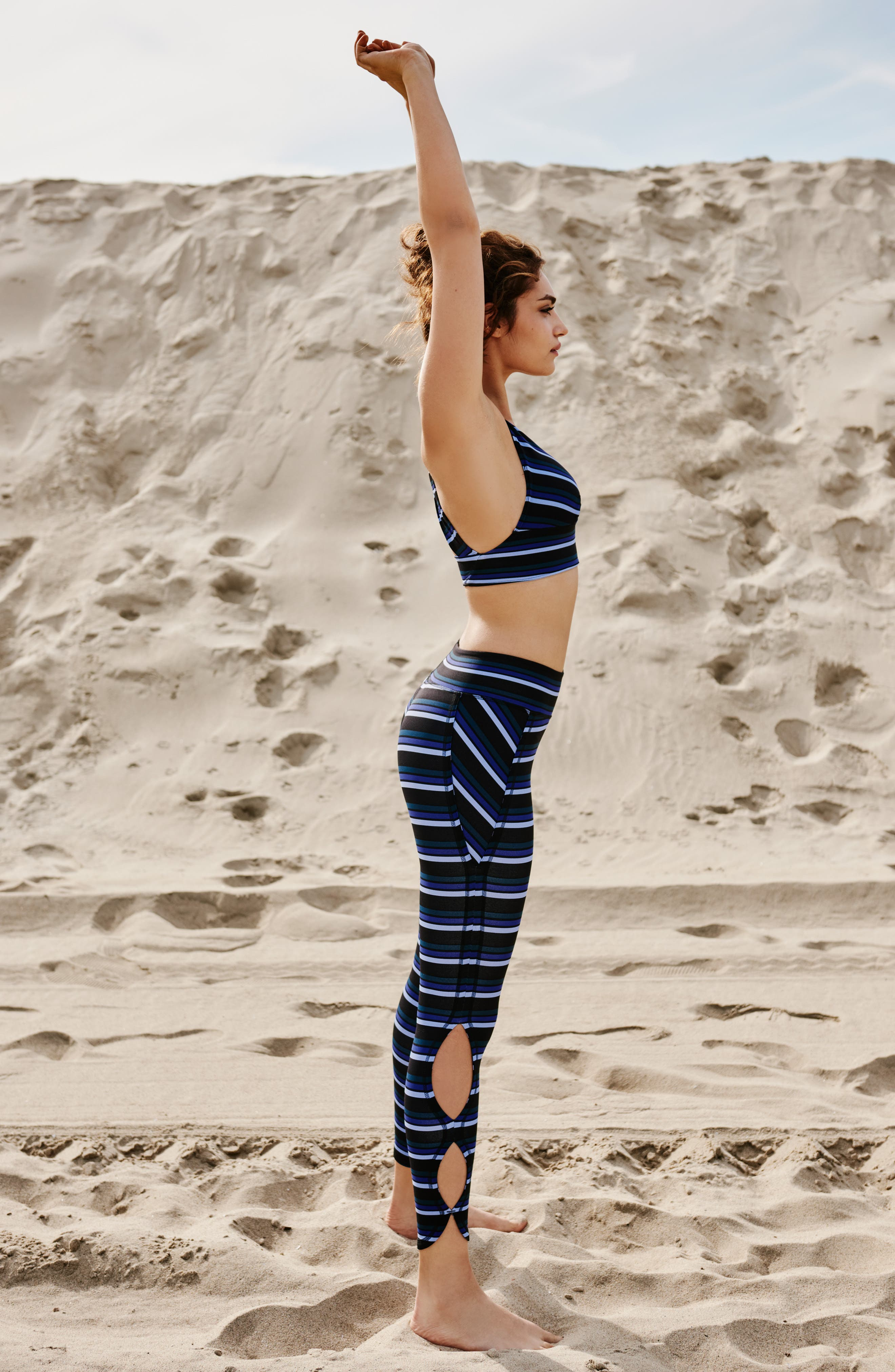 FREE PEOPLE MOVEMENT,                             Stripe Infinity Leggings,                             Alternate thumbnail 11, color,                             001
