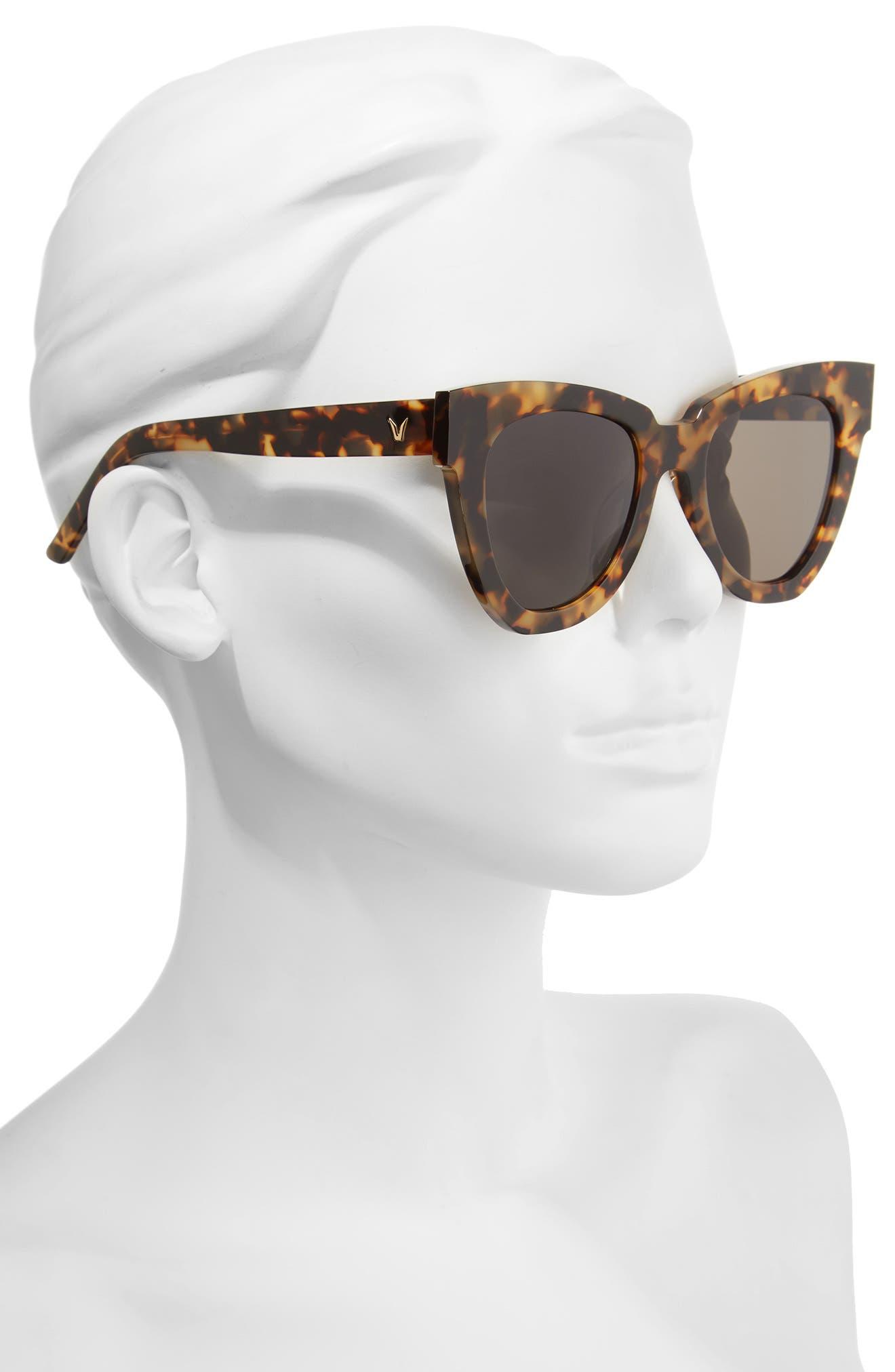 Laser 51mm Cat Eye Sunglasses,                             Alternate thumbnail 6, color,