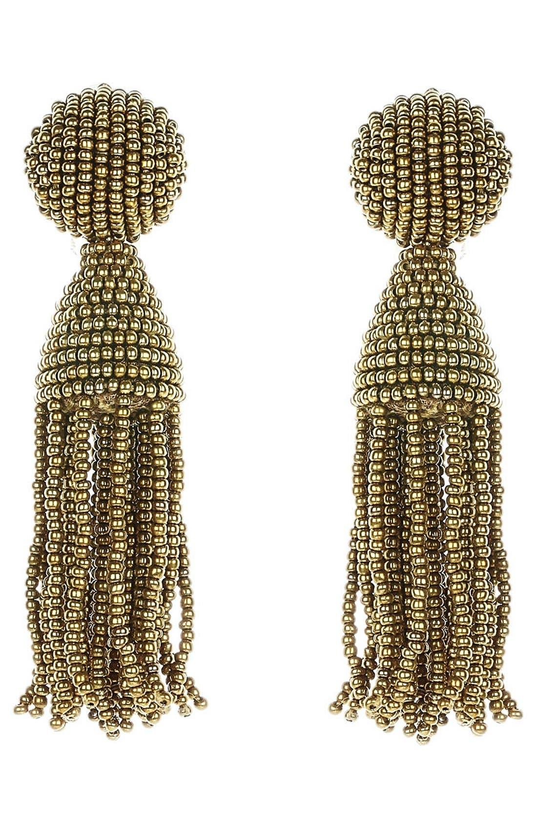 'Classic Short' Tassel Drop Earrings,                             Main thumbnail 1, color,                             251