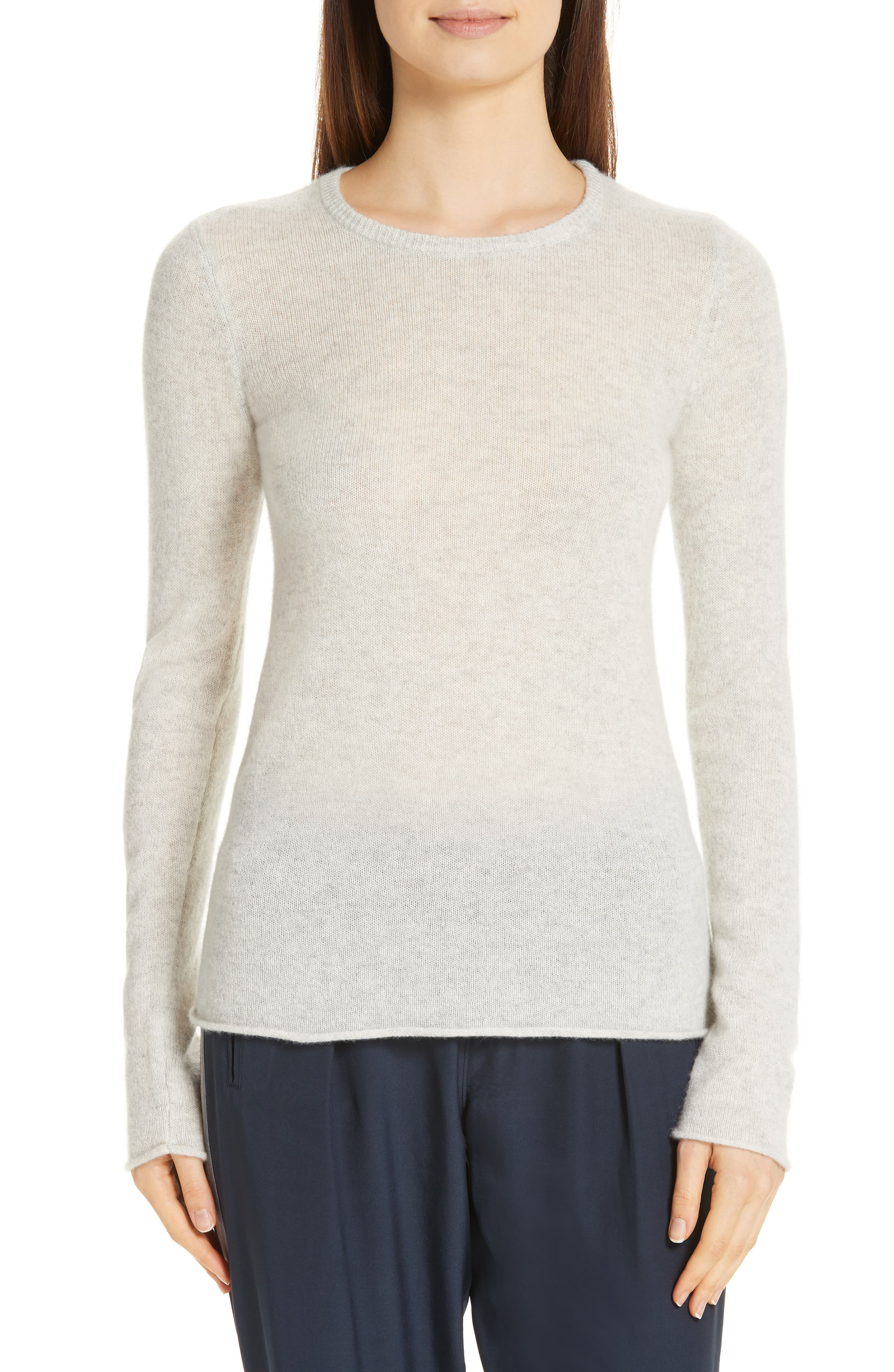 Cashmere Sweater,                             Main thumbnail 1, color,                             BLIZZARD