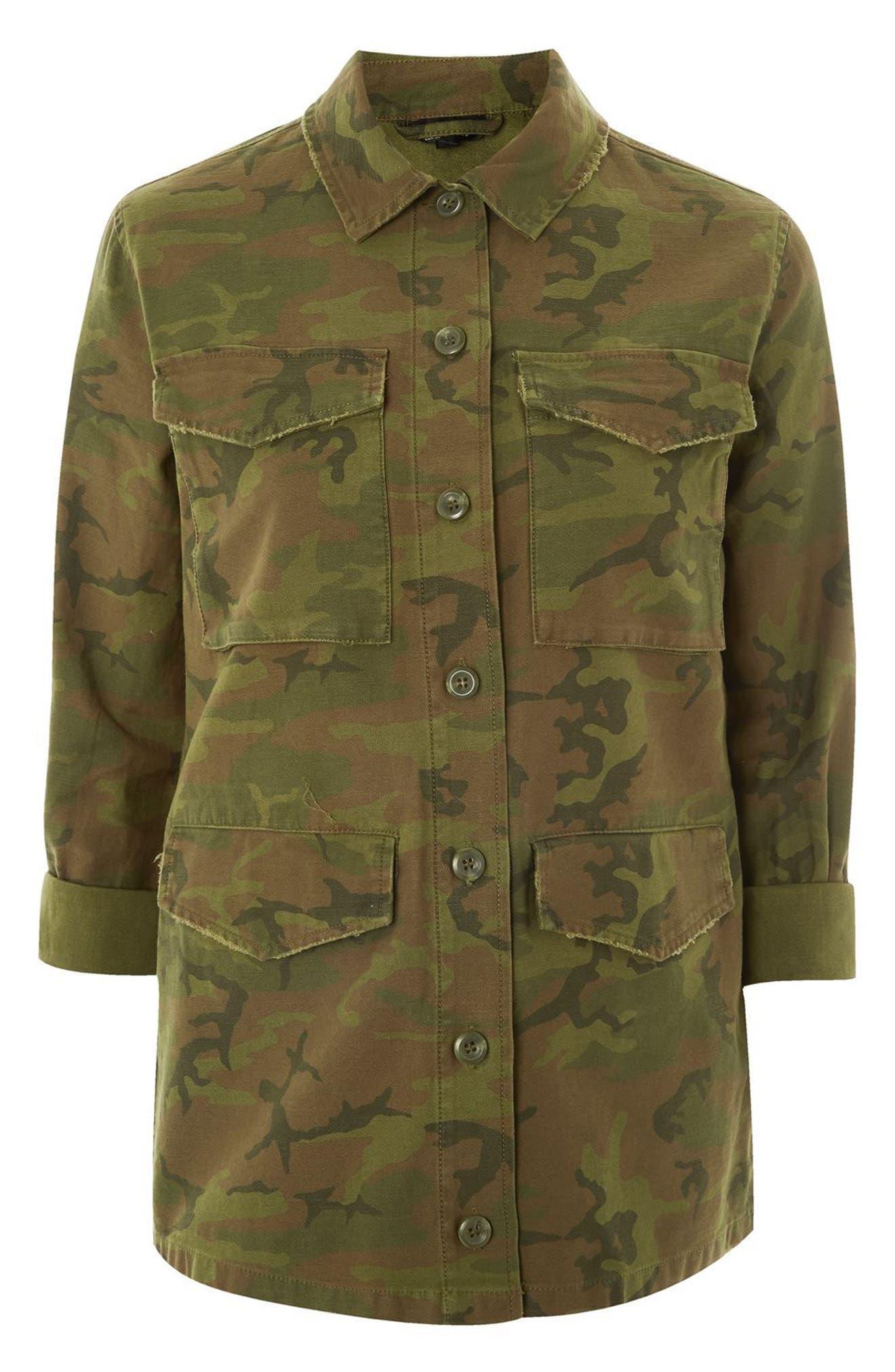 Stanley Camo Shirt Jacket,                             Alternate thumbnail 3, color,                             300