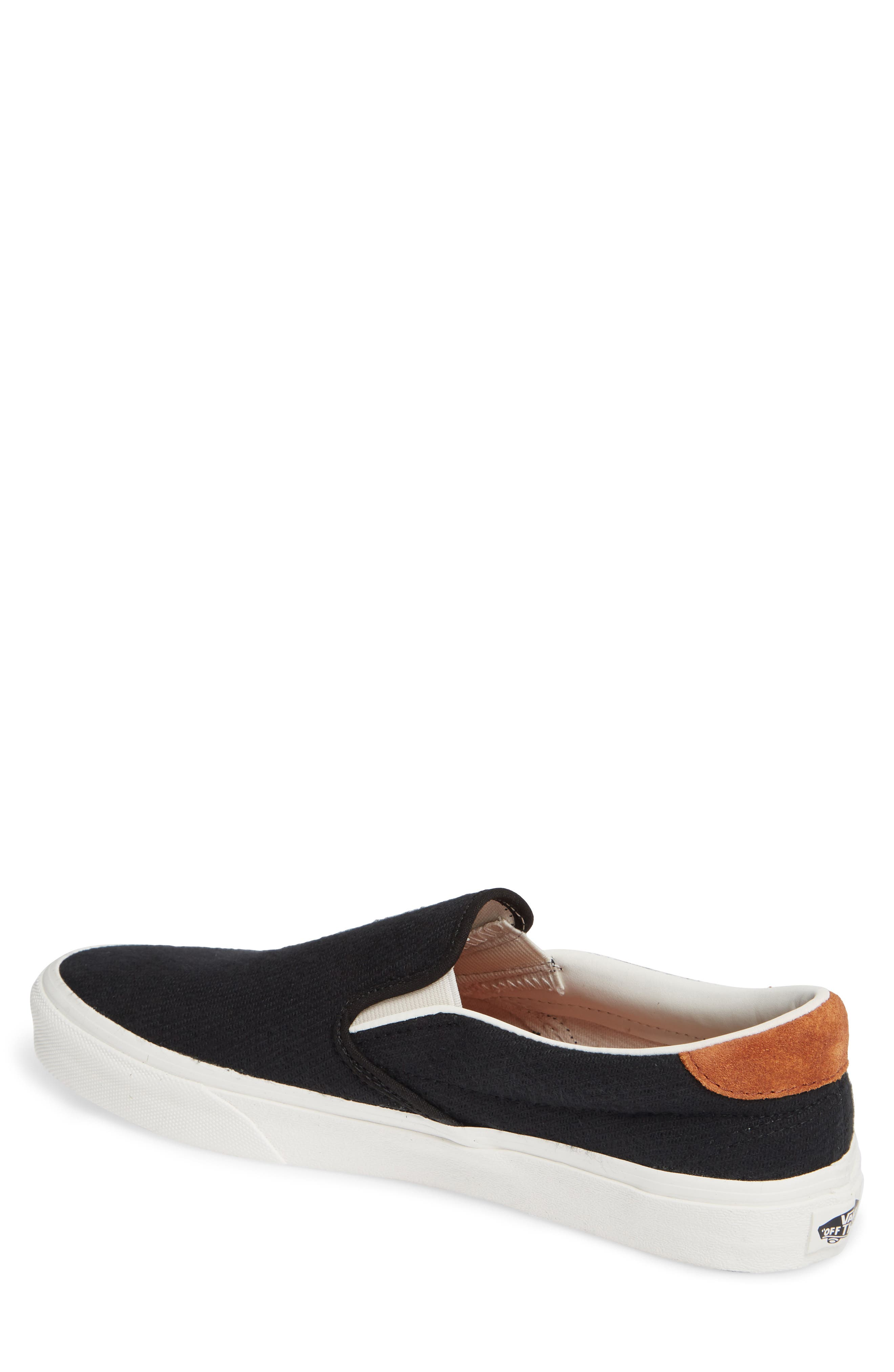 59 Classic Slip-On Sneaker,                             Alternate thumbnail 2, color,                             BLACK FLANNEL SUEDE