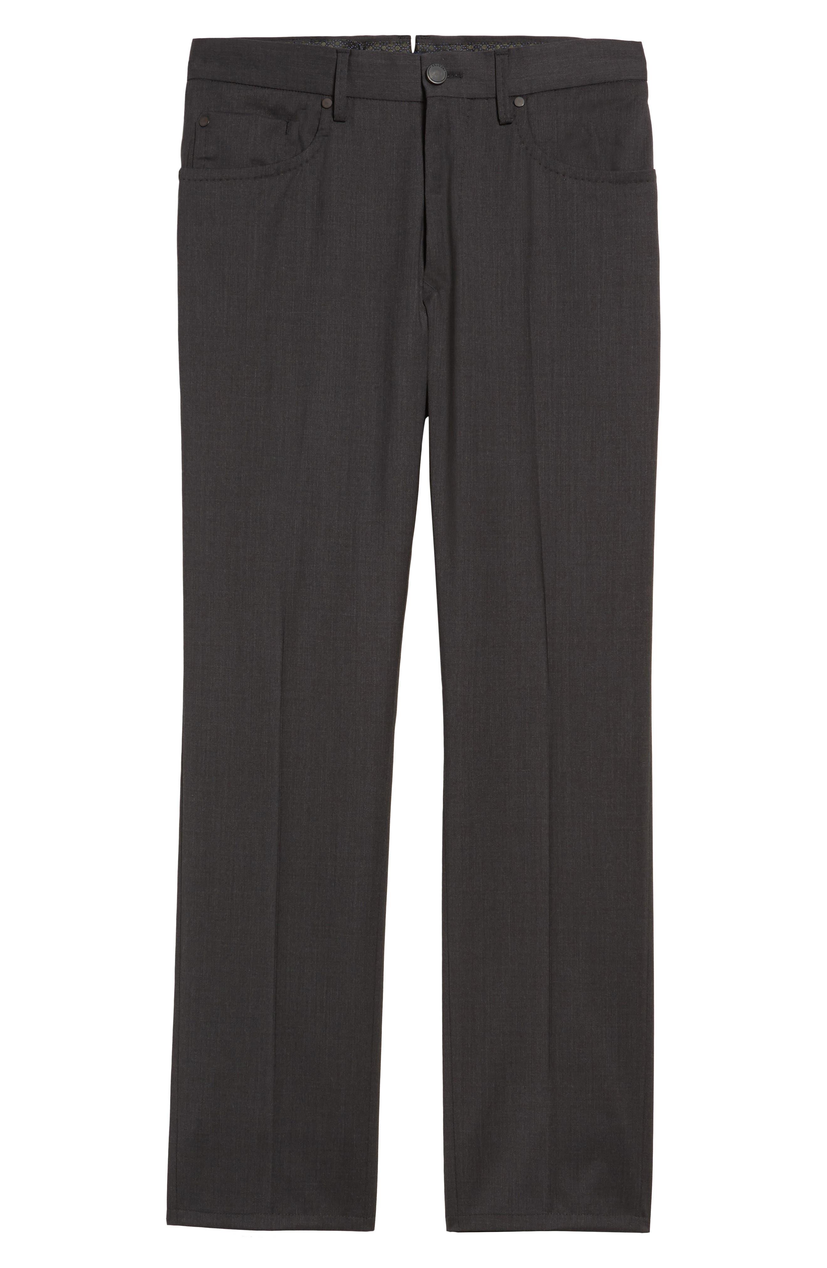 Five-Pocket Stretch Wool Pants,                             Alternate thumbnail 6, color,                             015