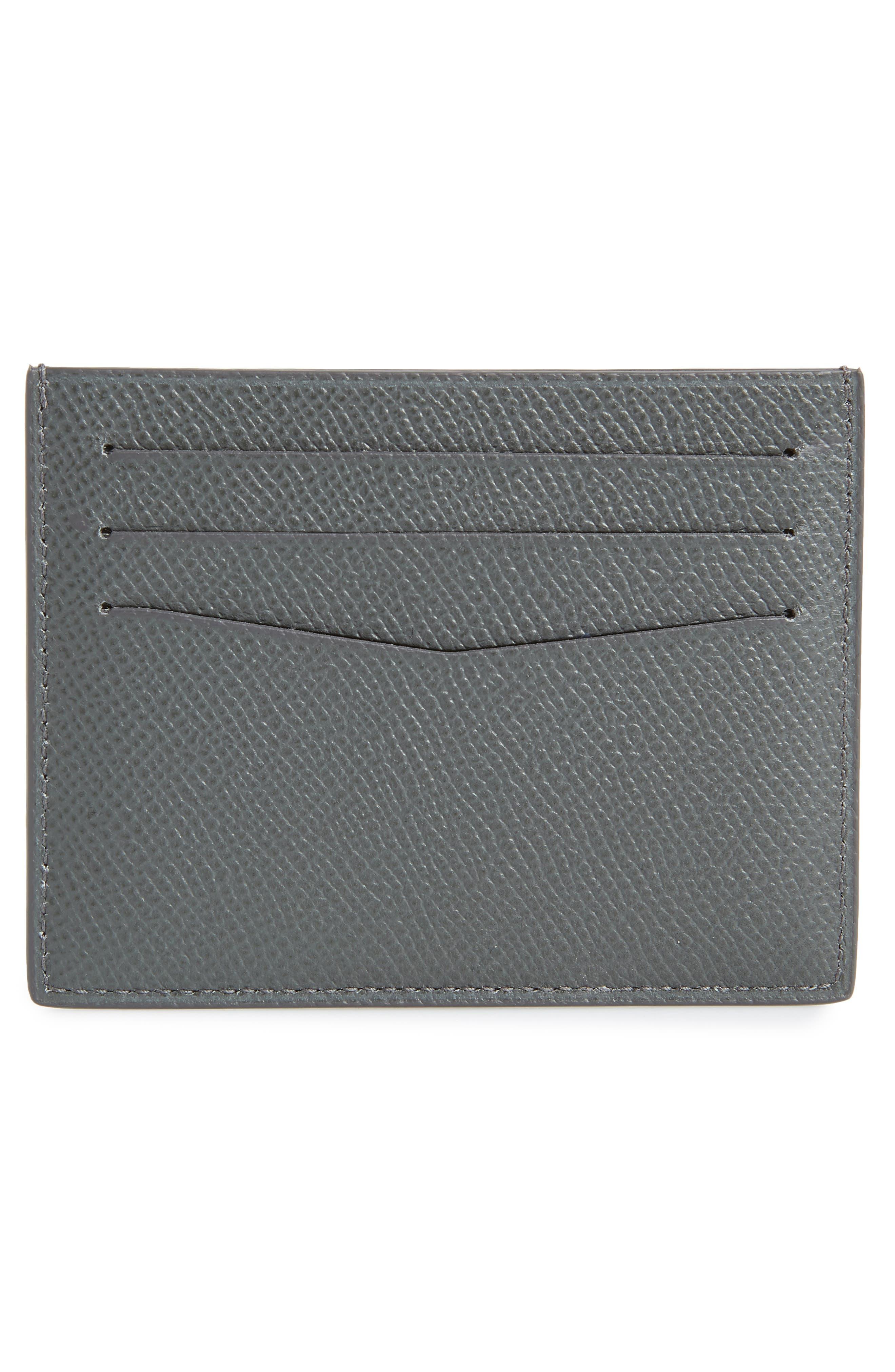 Cadogan Leather Card Case,                             Alternate thumbnail 2, color,                             GREY