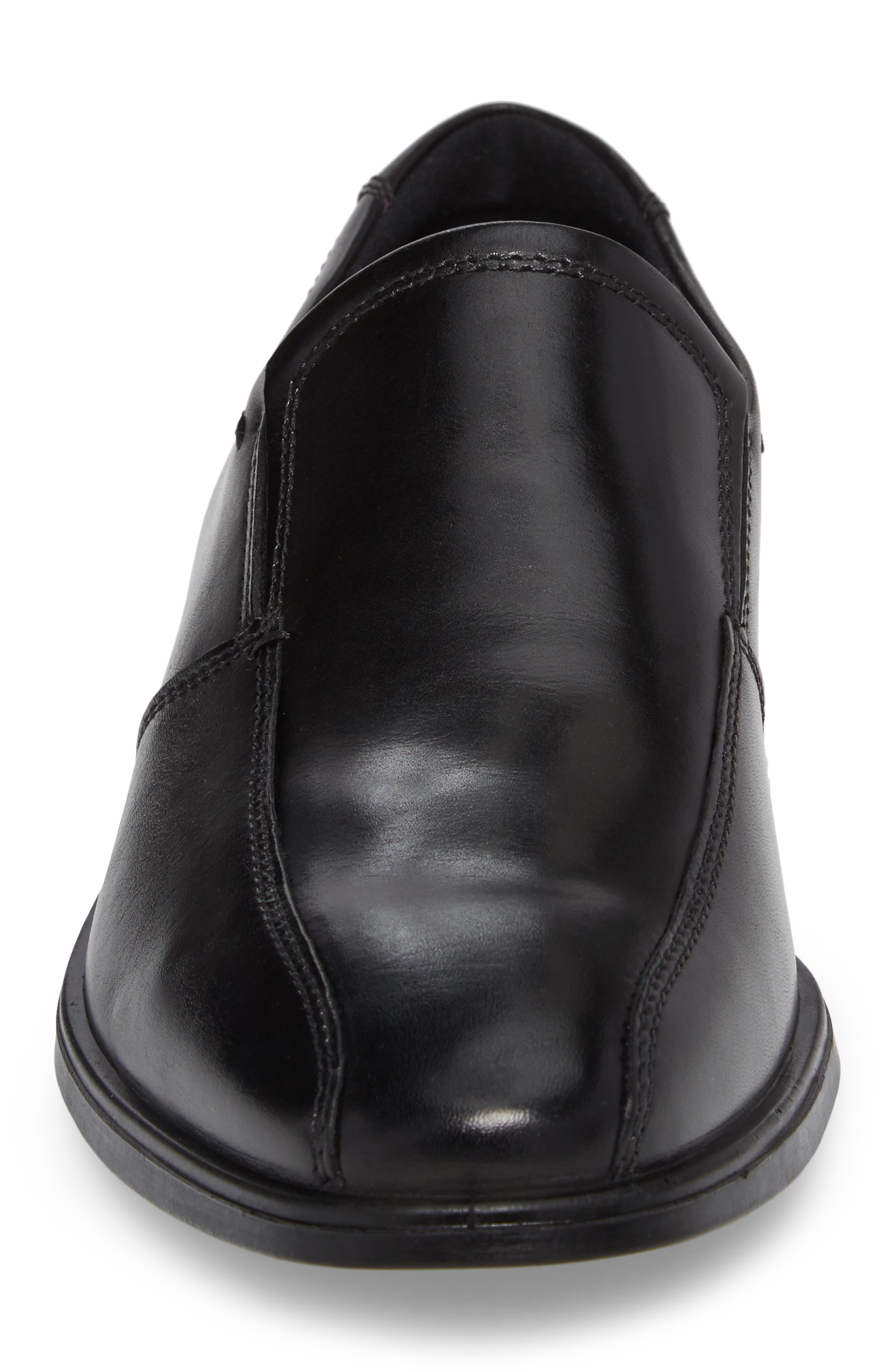 Melbourne Venetian Loafer,                             Alternate thumbnail 4, color,                             BLACK LEATHER