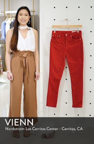 High Waist Velvet Skinny Pants, sales video thumbnail