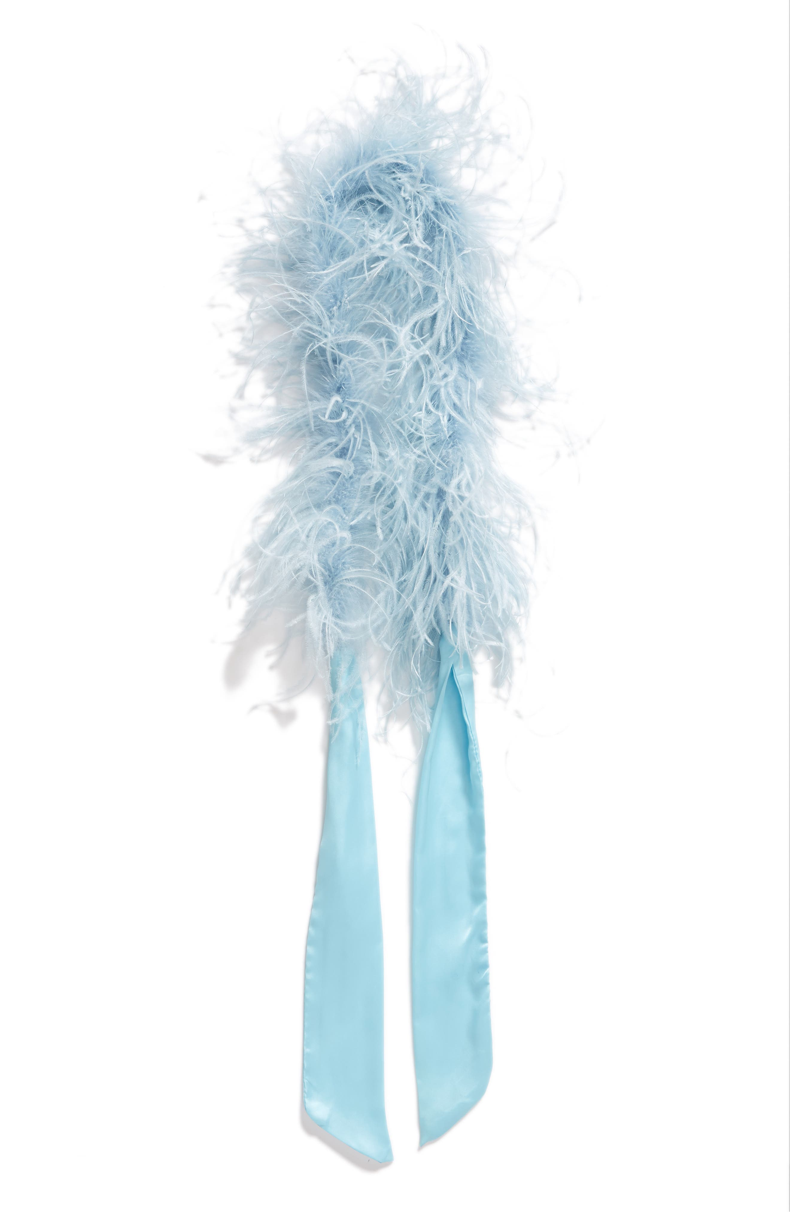 Ostrich Feather Scarf,                             Alternate thumbnail 8, color,