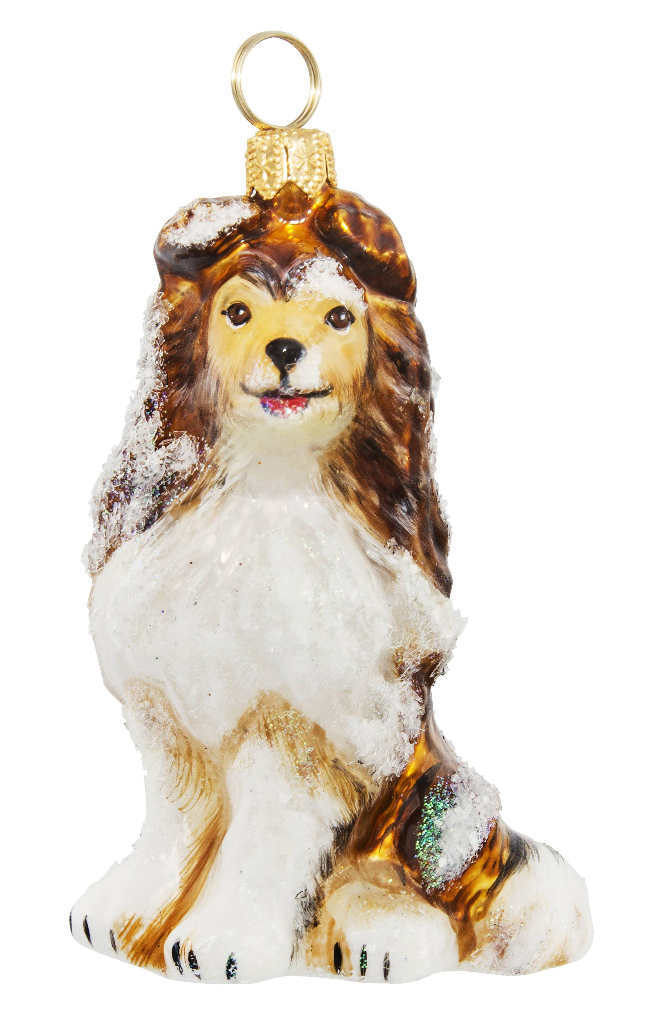 JOY TO THE WORLD COLLECTIBLES Shetland Sheep Dog Ornament, Main, color, 200