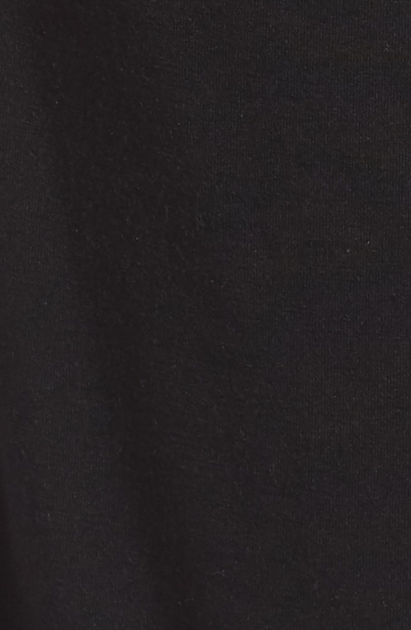 Foldover Waist Tulip Pants,                             Alternate thumbnail 6, color,                             BLACK