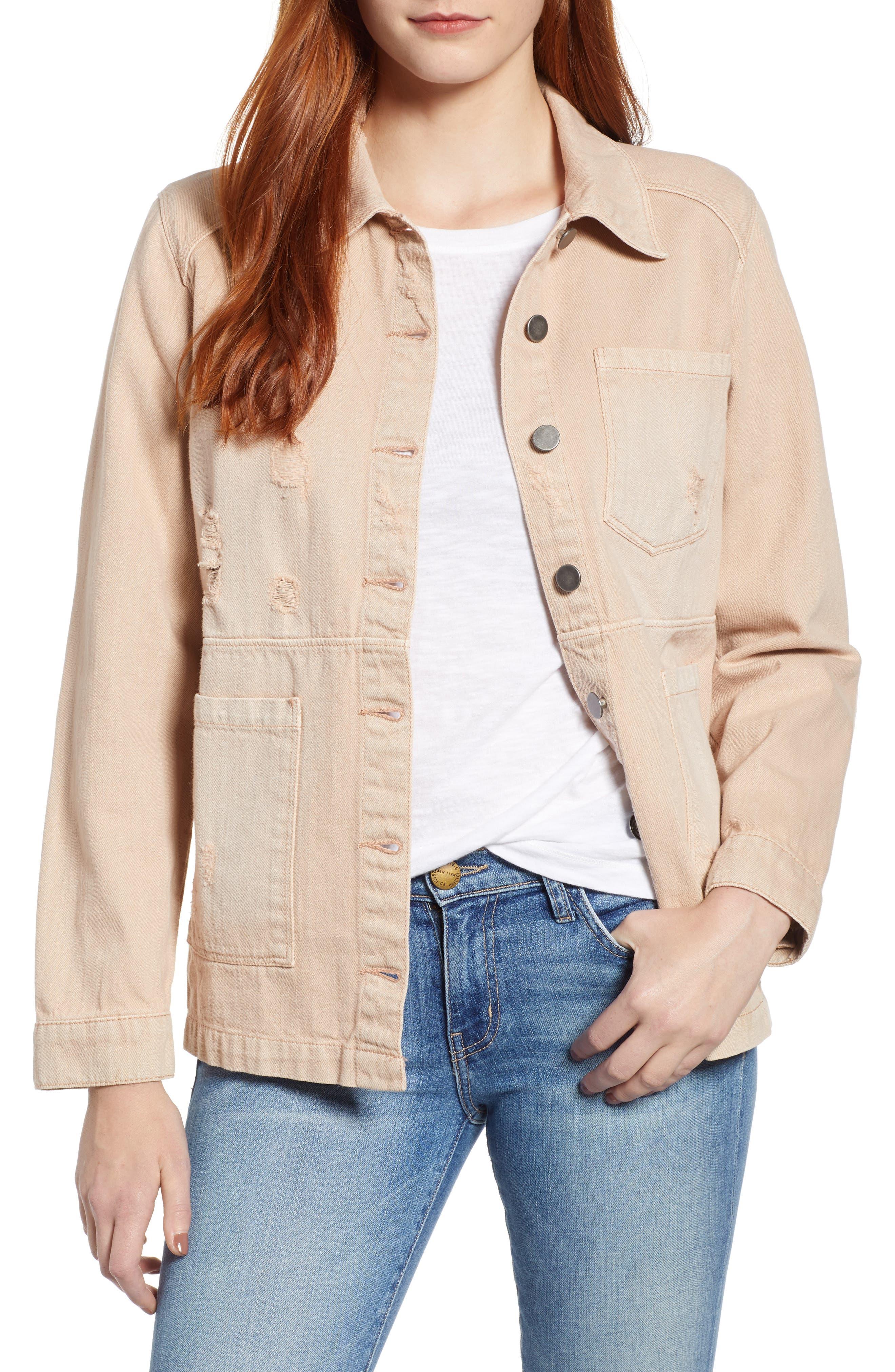 Claudia Oversize Denim Jacket,                         Main,                         color, 250