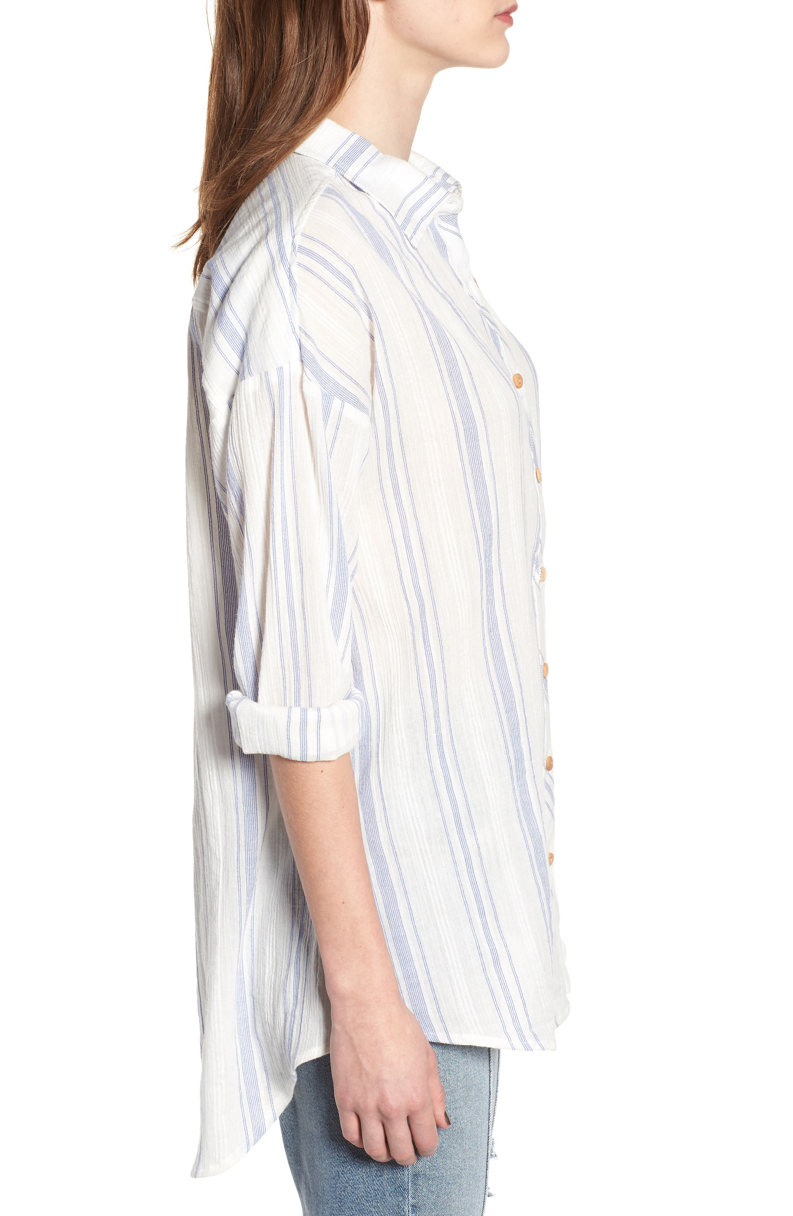 Alani Stripe Woven Shirt,                             Alternate thumbnail 3, color,