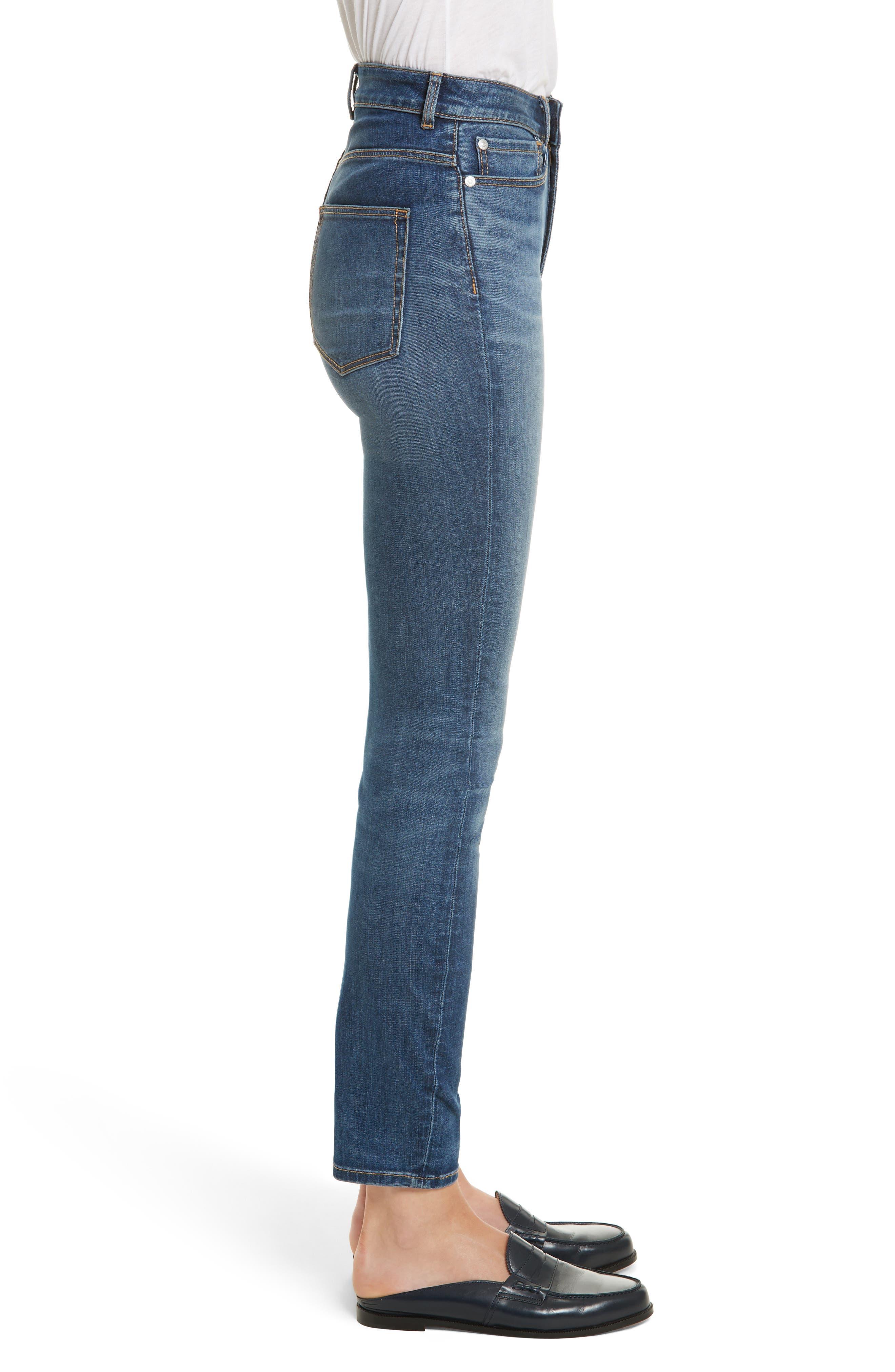 Clemence Skinny Jeans,                             Alternate thumbnail 3, color,                             401