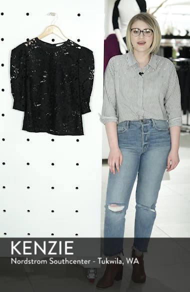 Puff Sleeve Lace Blouse, sales video thumbnail