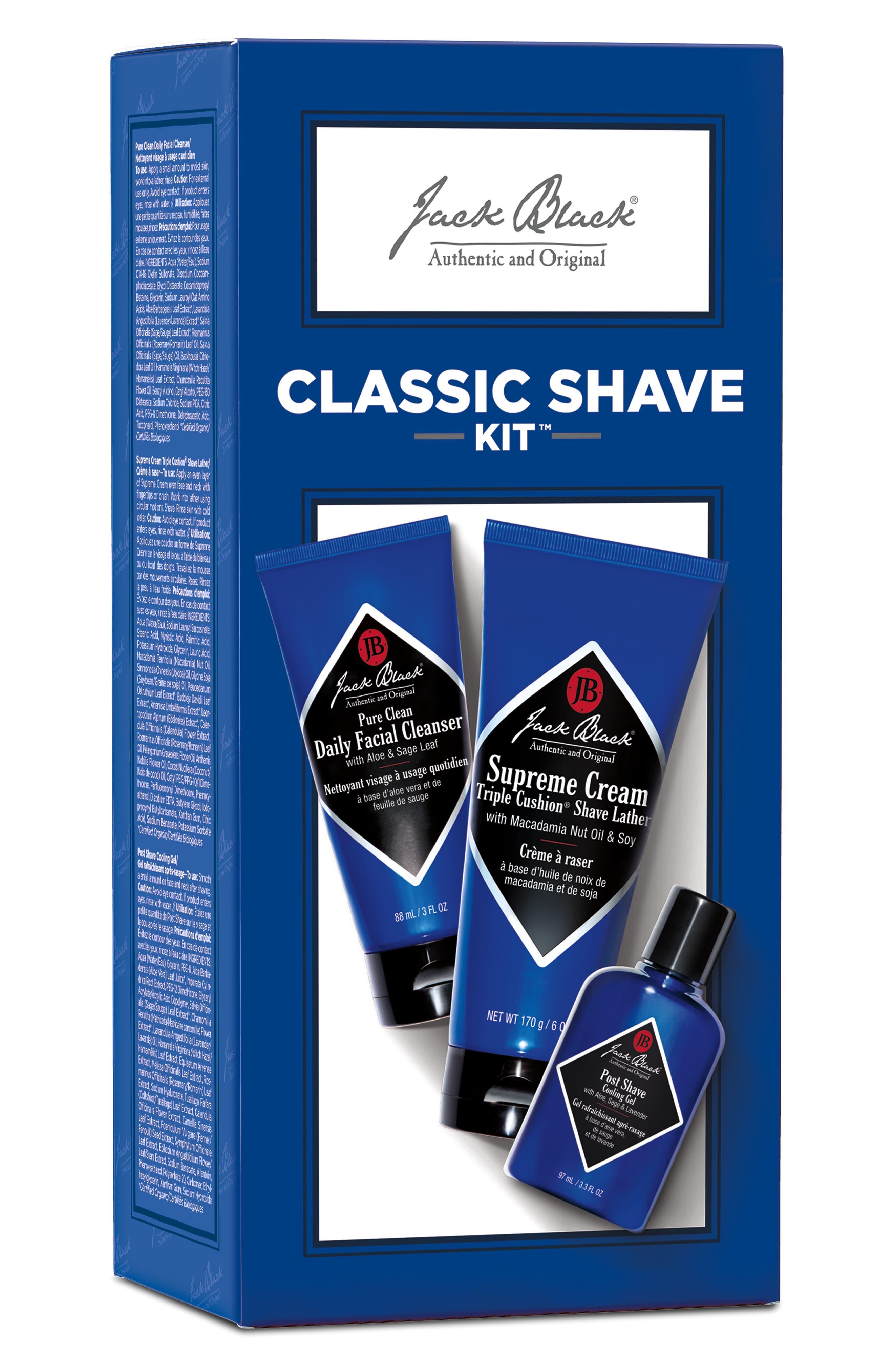 JACK BLACK,                             Classic Shave Set,                             Alternate thumbnail 2, color,                             NO COLOR