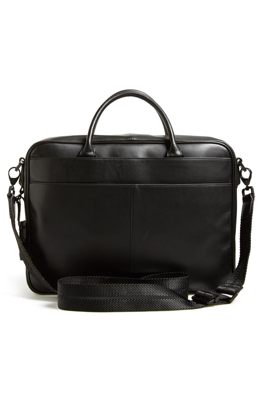 Turin Leather Briefcase,                             Alternate thumbnail 6, color,                             001
