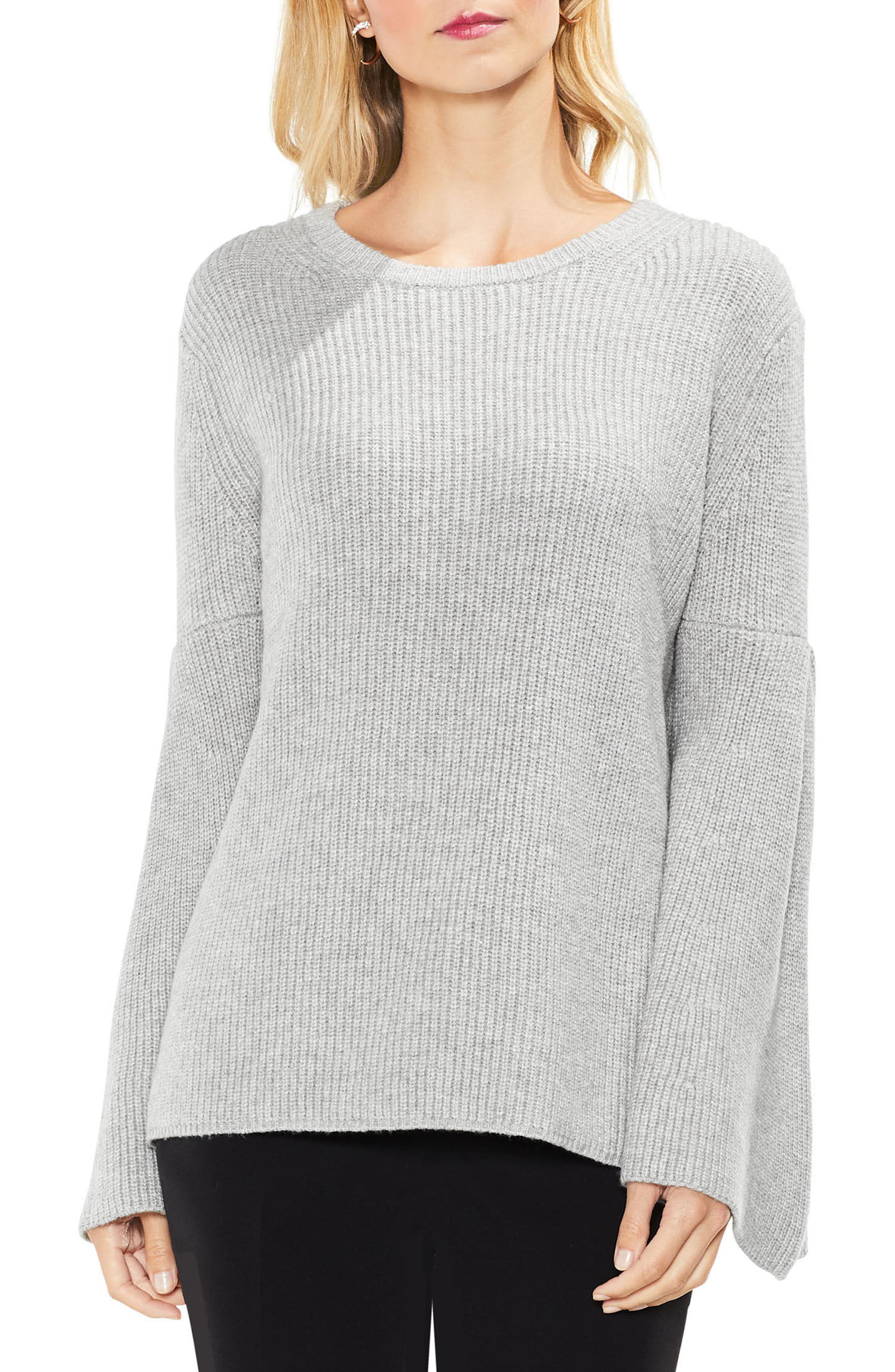 All Over Rib Bell Sleeve Sweater,                             Main thumbnail 2, color,