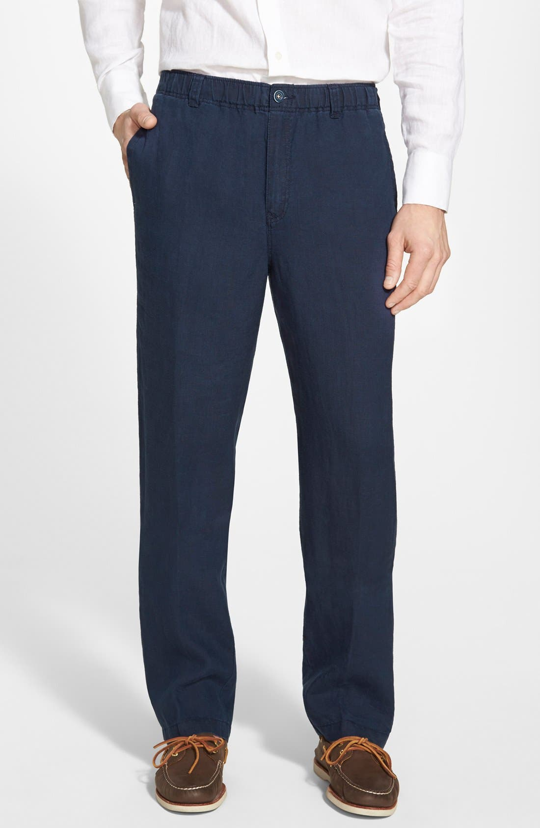 'New Linen on the Beach' Easy Fit Pants,                             Main thumbnail 8, color,