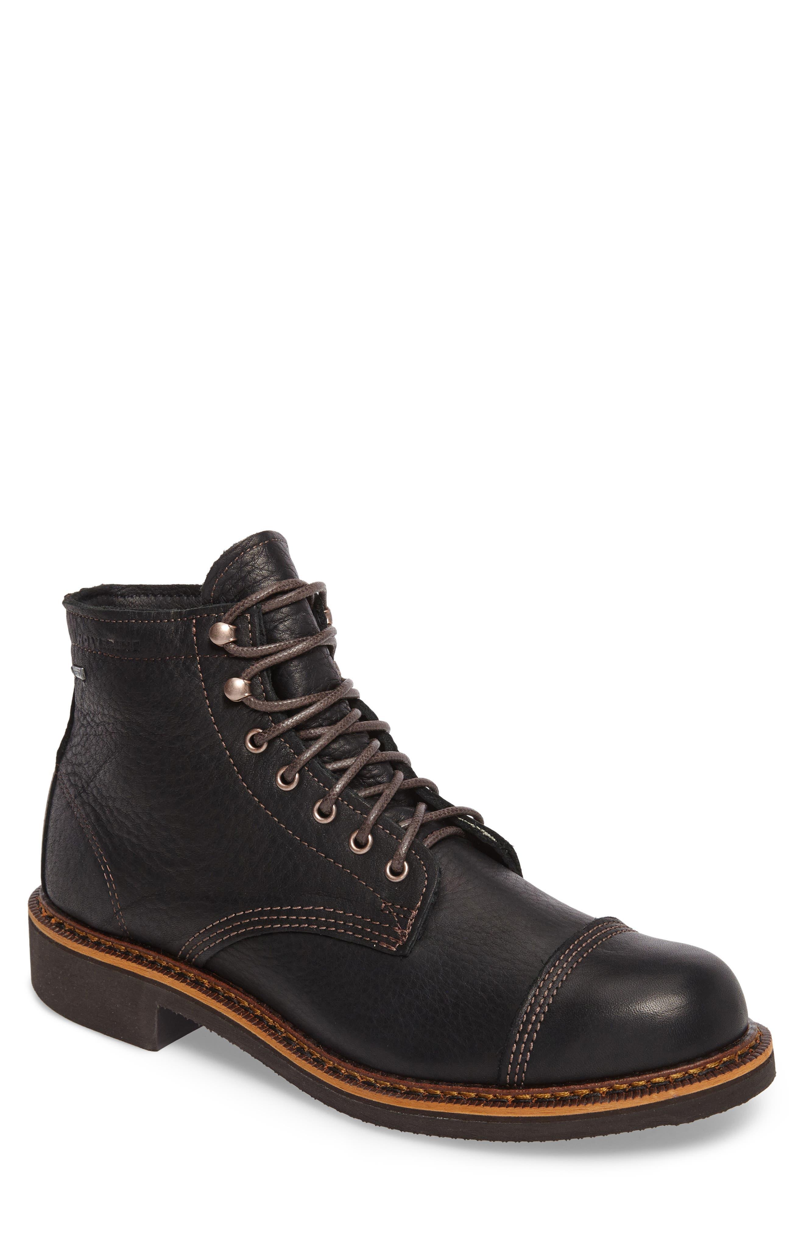 Jensen Cap Toe Boot,                             Main thumbnail 1, color,                             BLACK