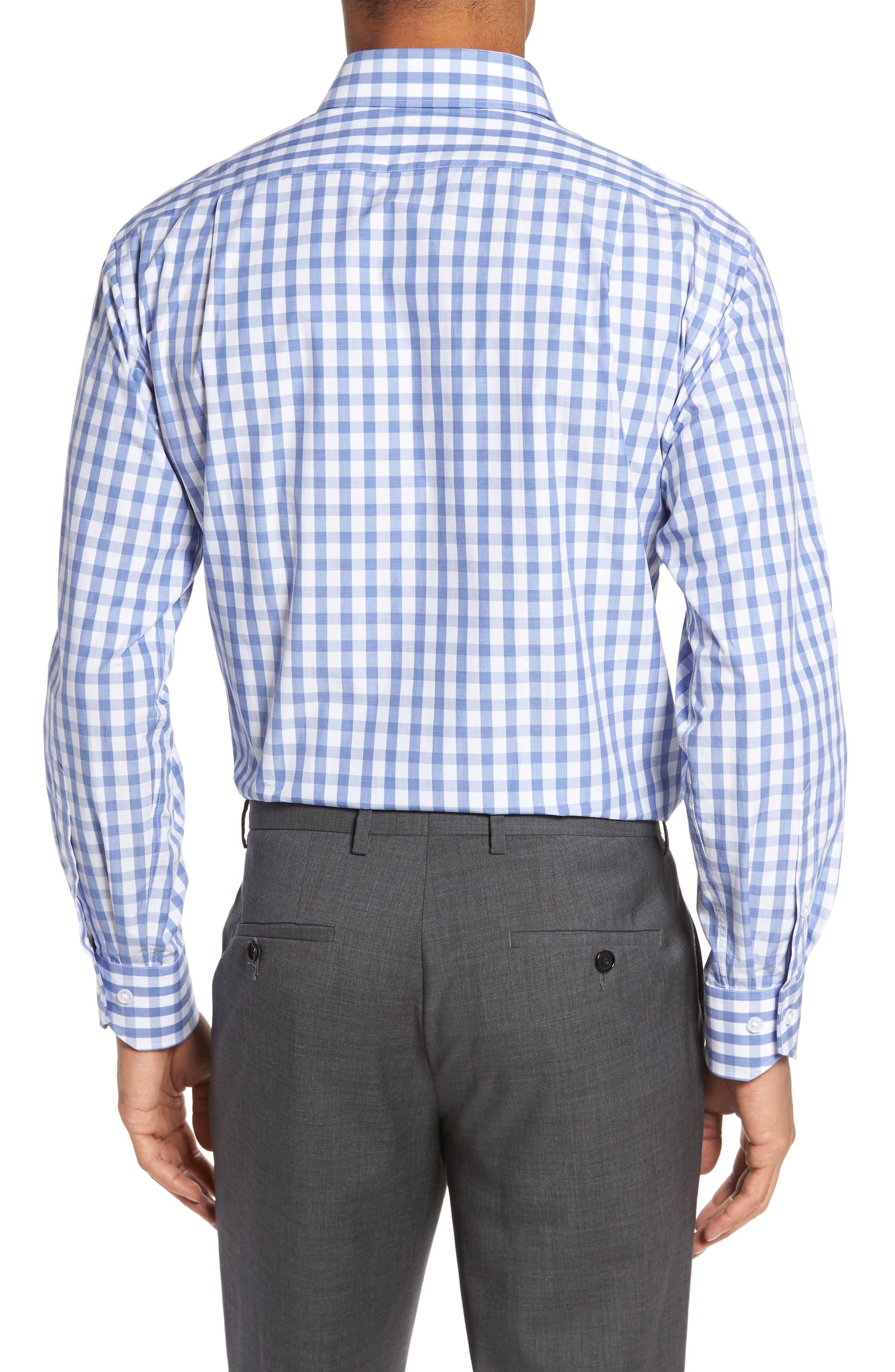 Trim Fit Check Dress Shirt,                             Alternate thumbnail 2, color,                             450