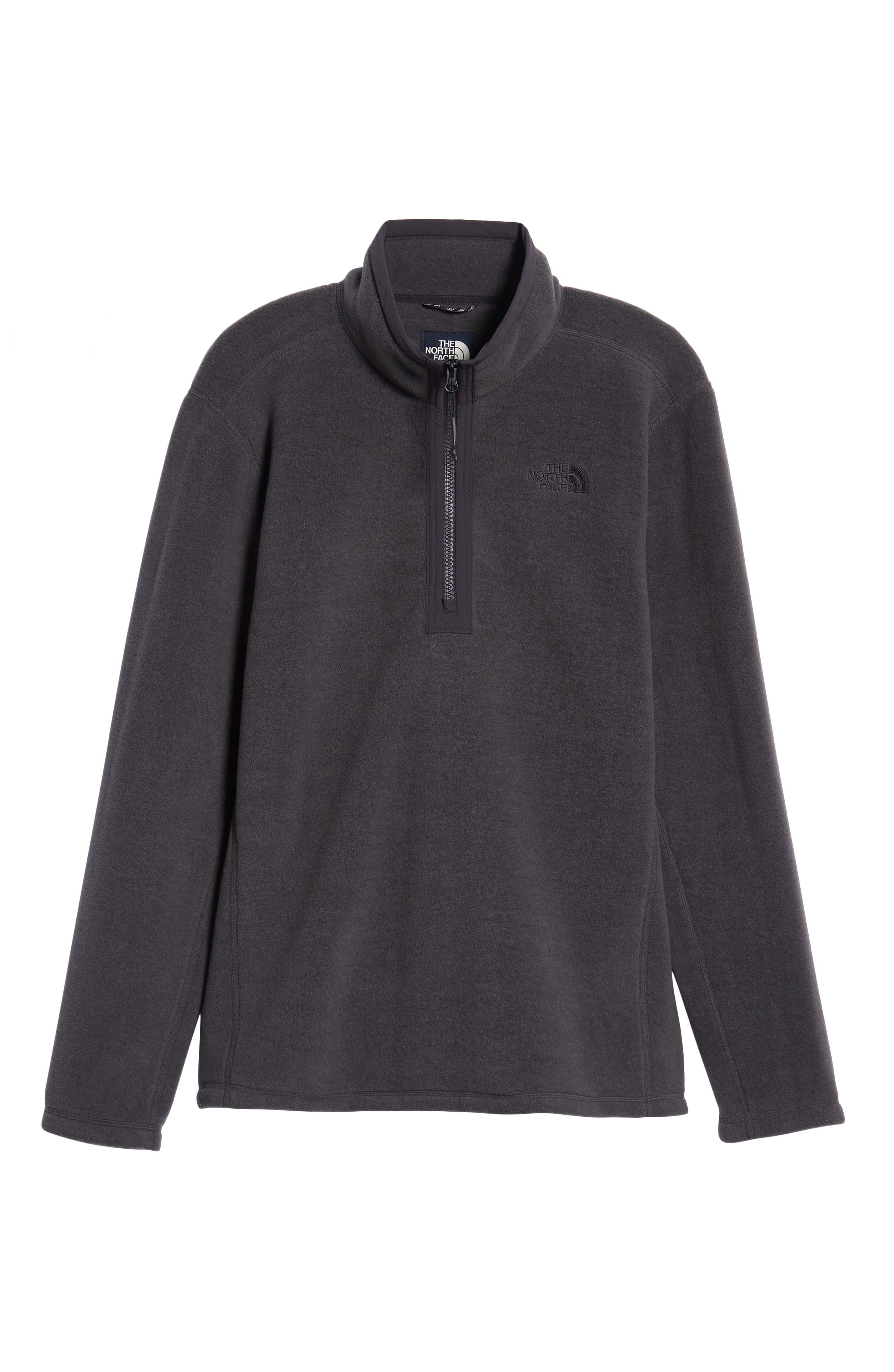 Pyrite Fleece Quarter Zip Pullover,                             Alternate thumbnail 6, color,                             TNF DARK GREY HEATHER