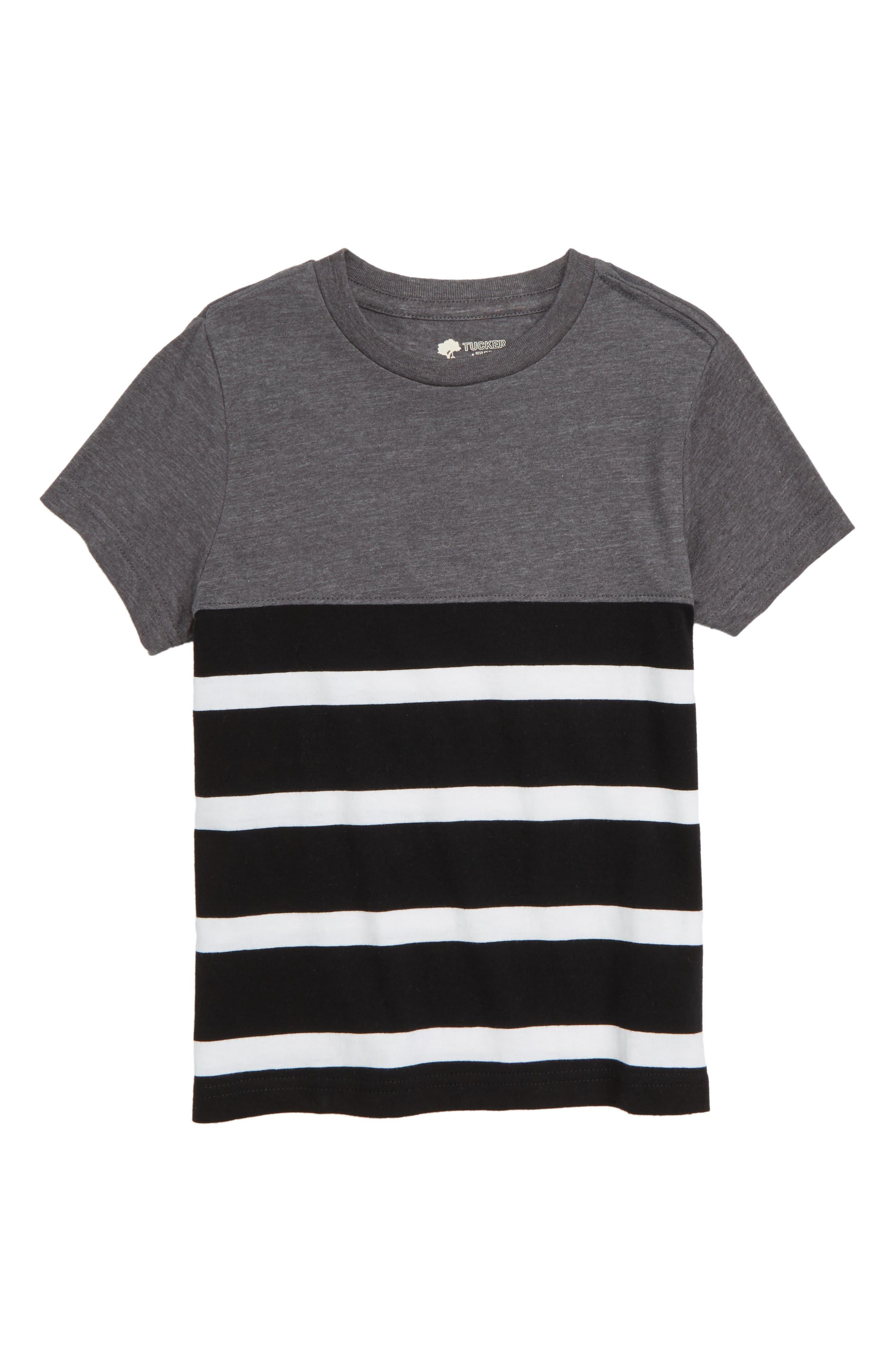 Solid & Stripe T-Shirt,                             Main thumbnail 1, color,                             001