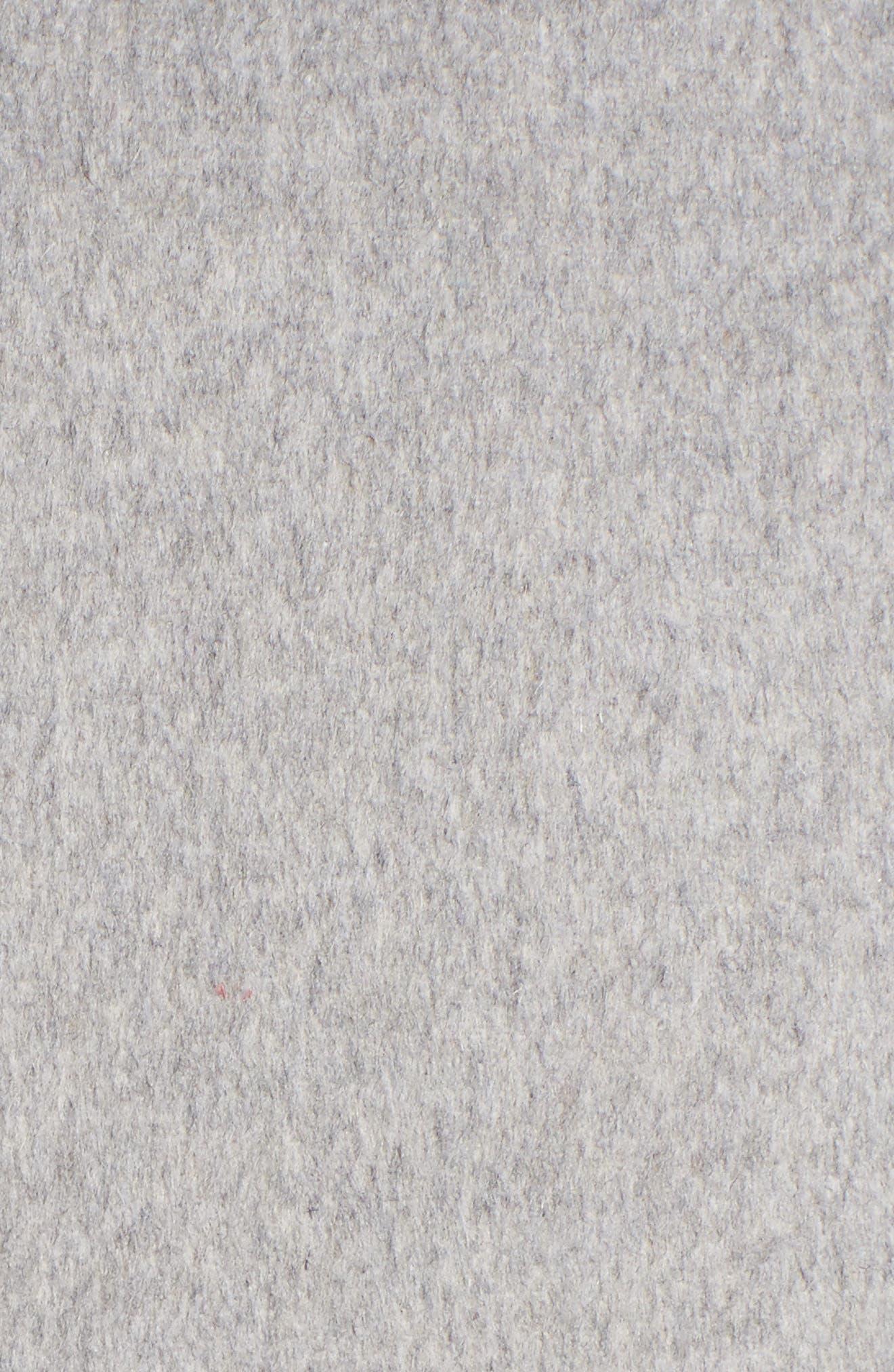 Double Face Wool Blend Long Coat,                             Alternate thumbnail 6, color,                             033