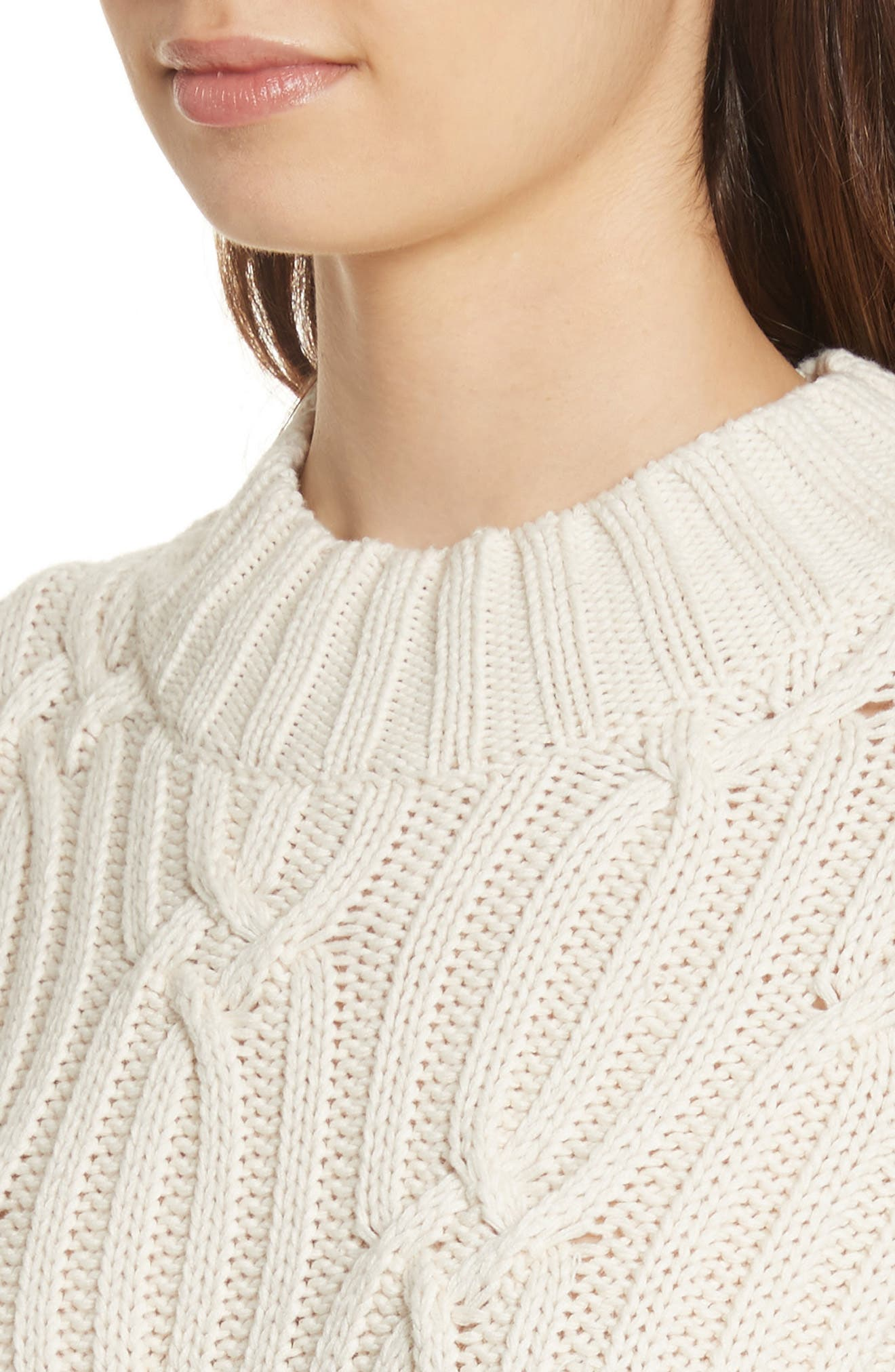 Cable Knit Sweater,                             Alternate thumbnail 4, color,                             113