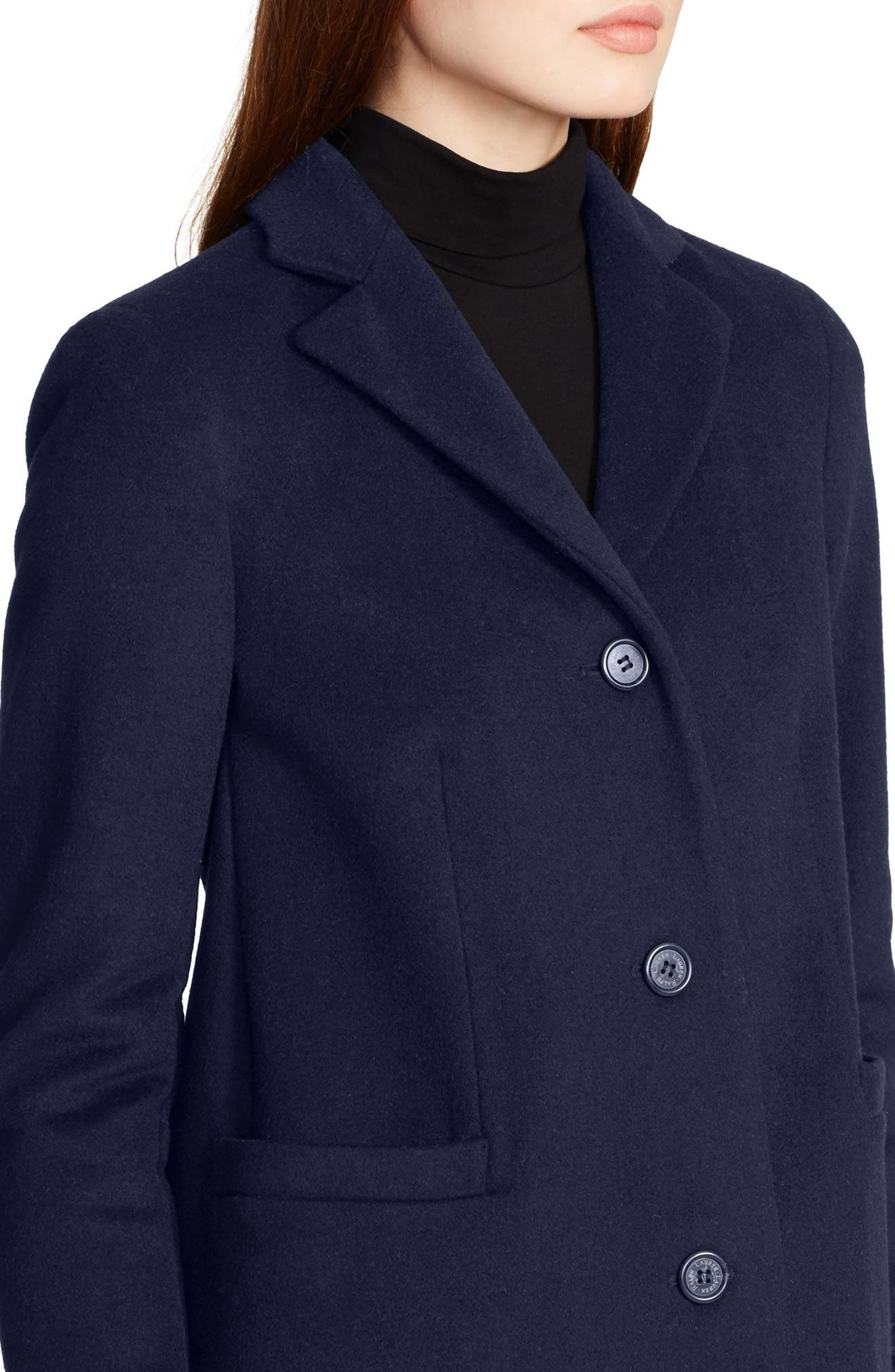 Wool Blend Reefer Coat,                             Alternate thumbnail 26, color,