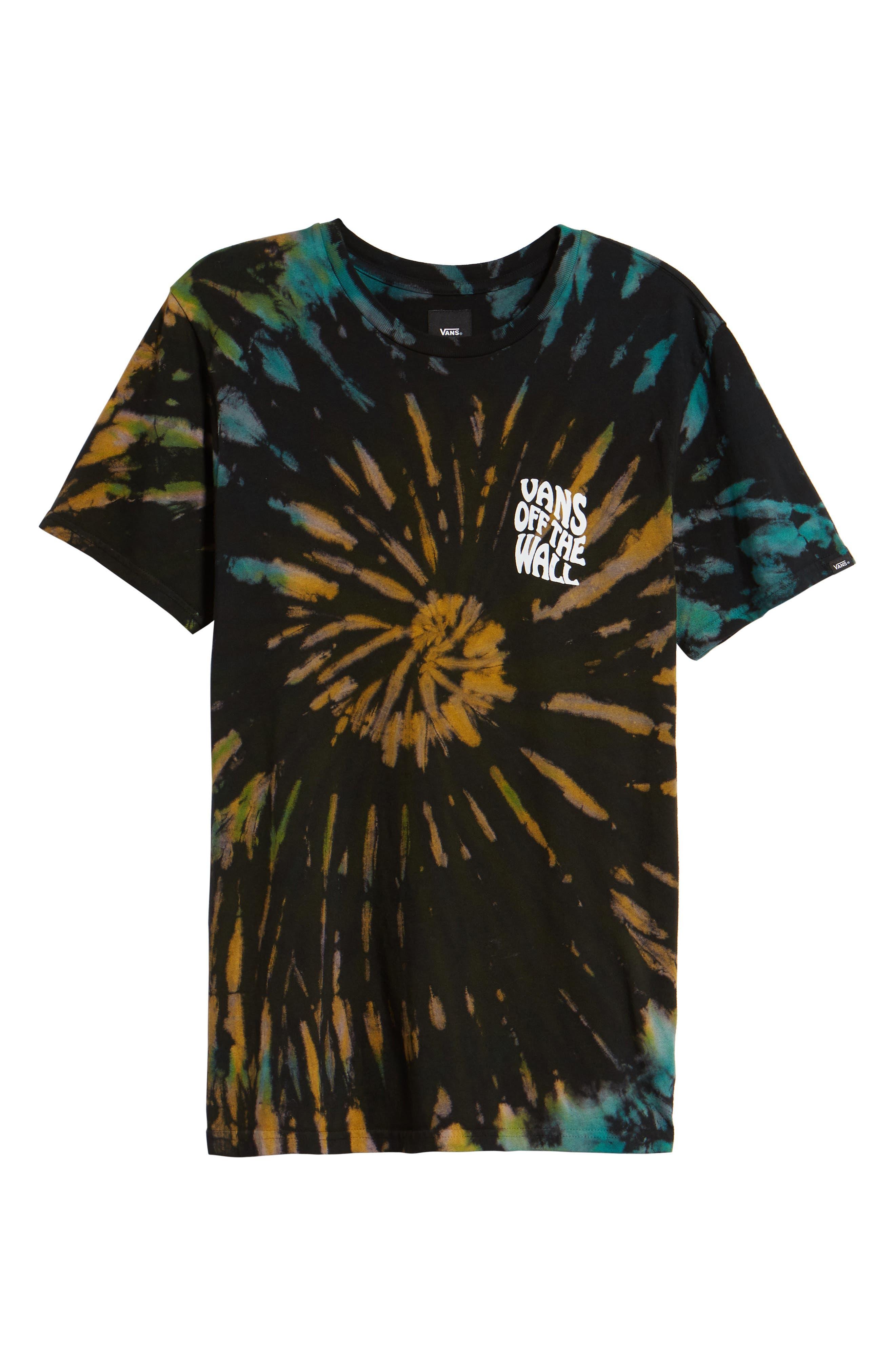 Tie Dye Reaper T-Shirt,                             Alternate thumbnail 6, color,                             BLACK