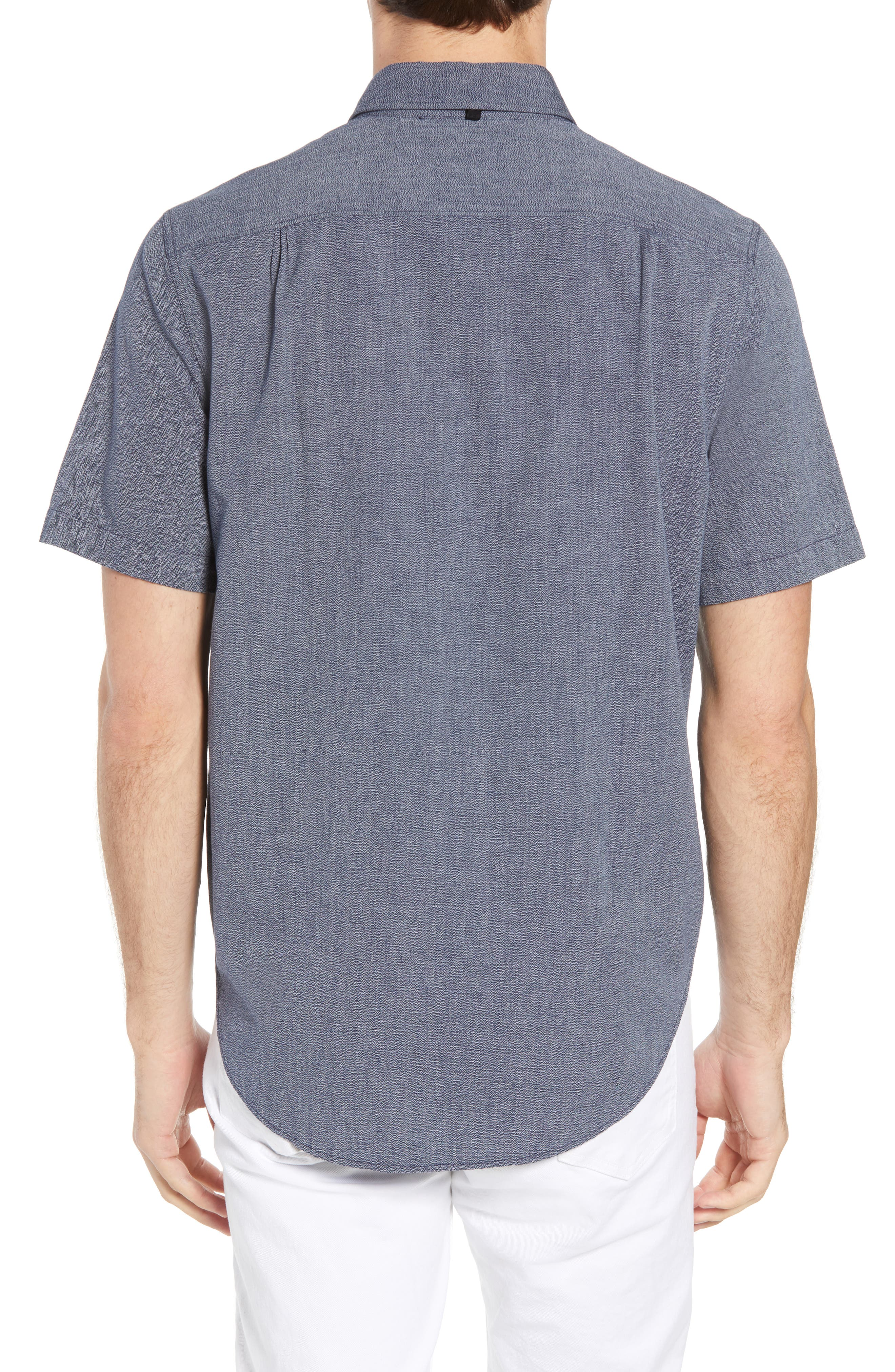 Regular Fit Short Sleeve Sport Shirt,                             Alternate thumbnail 2, color,                             BLUE