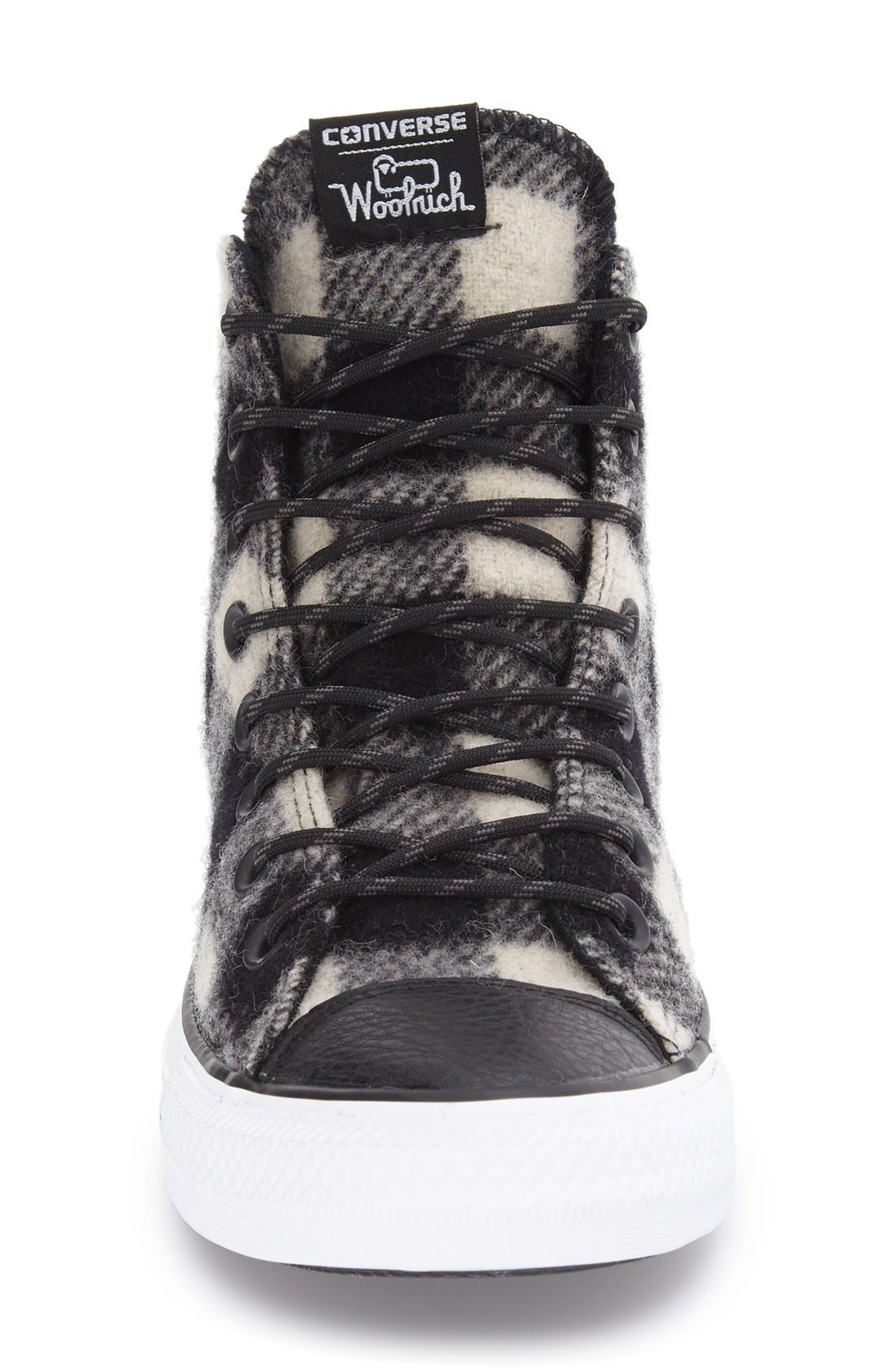 Chuck Taylor<sup>®</sup> All Star<sup>®</sup> Woolrich High Top Sneaker,                             Alternate thumbnail 2, color,                             001