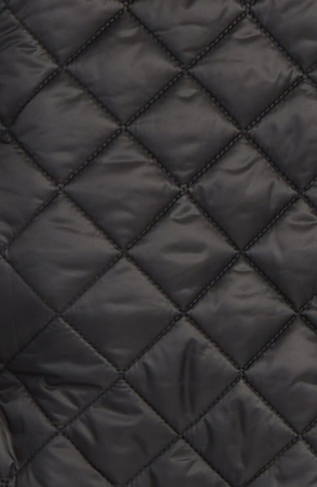 BURBERRY,                             Quilted Jacket,                             Alternate thumbnail 2, color,                             001