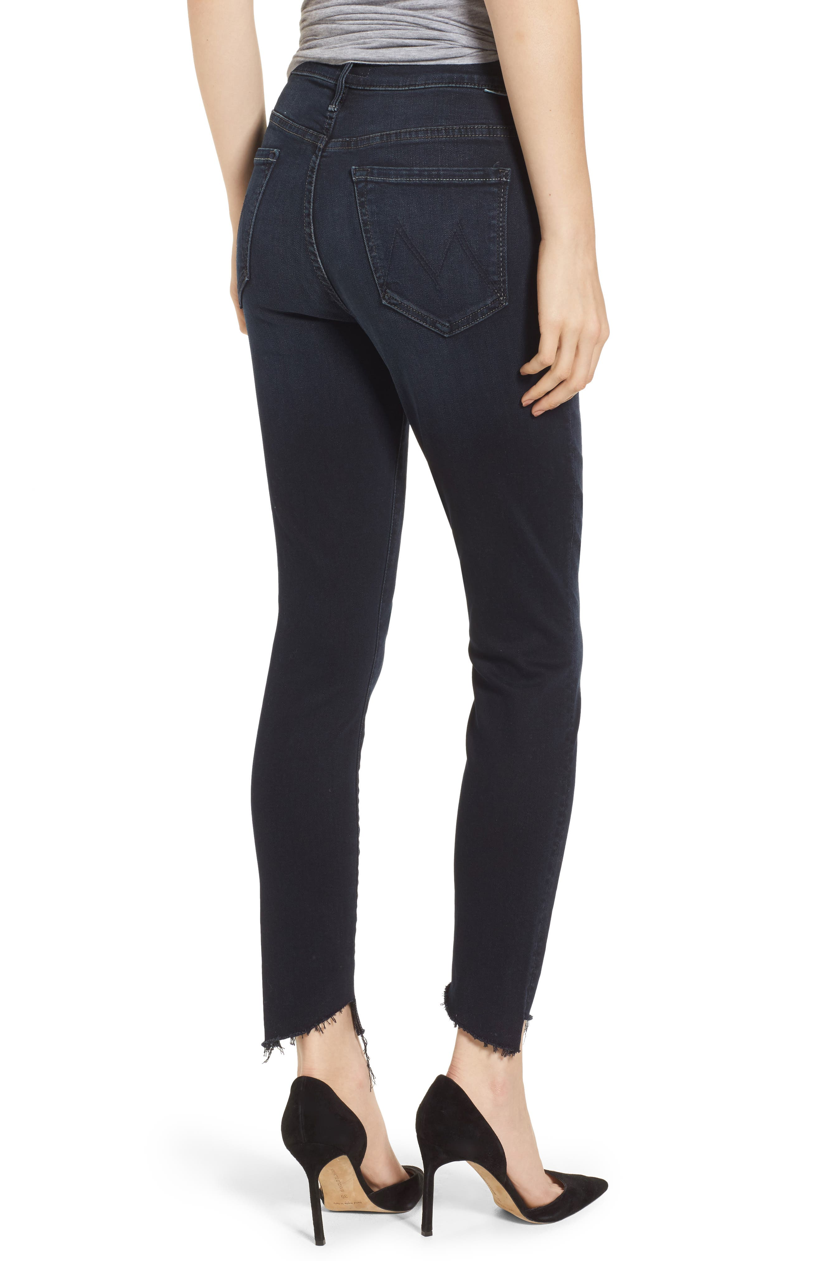 The Stunner High Waist Fray Ankle Skinny Jeans,                             Alternate thumbnail 2, color,                             LAST CALL